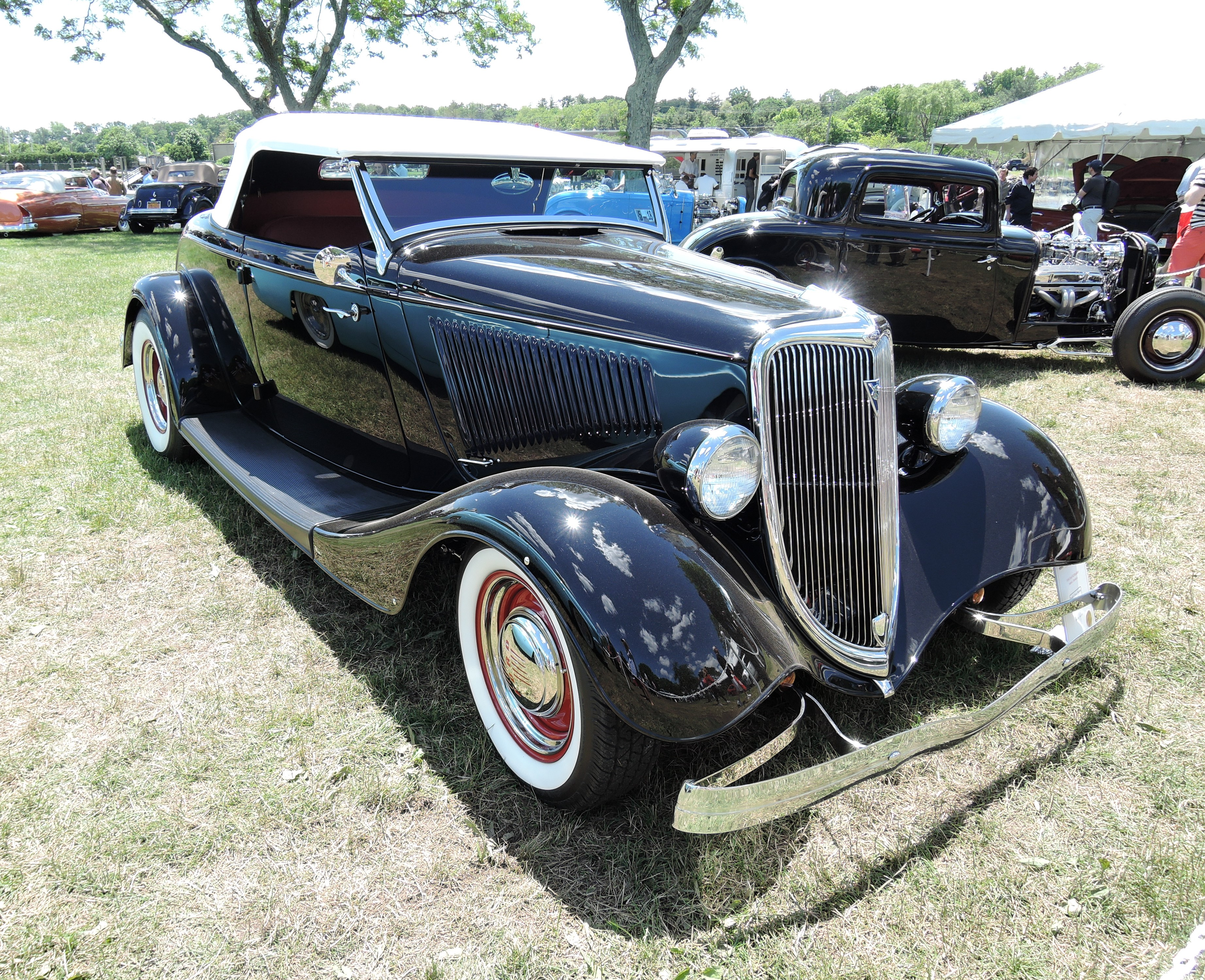 blue 1934 Ford 40 Roadster - Greenwich Concours d'Elegance 2017