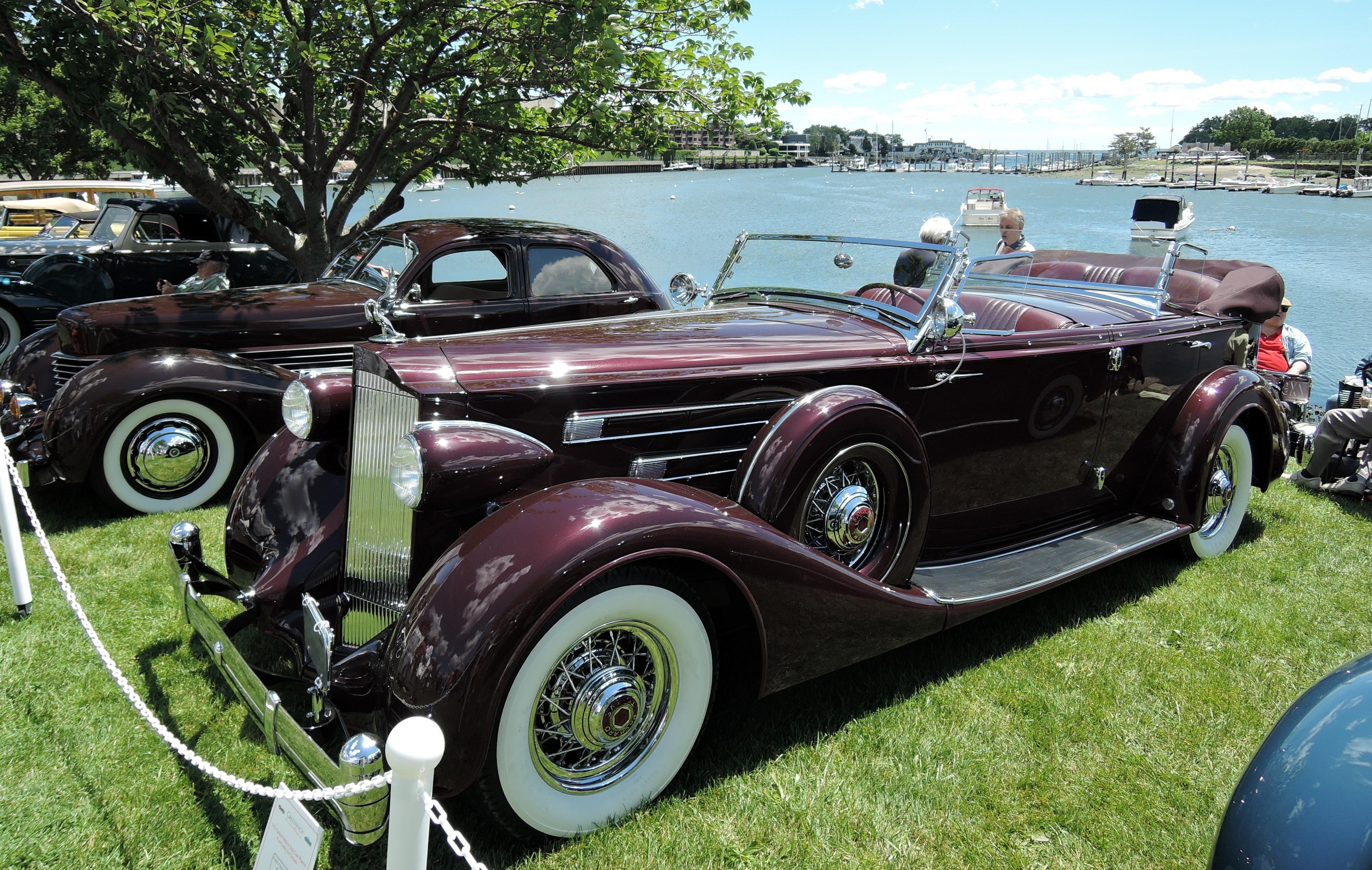 red 1935 Packard Dietrich Dual Cowl Phaeton - Greenwich Concours d'Elegance 2017