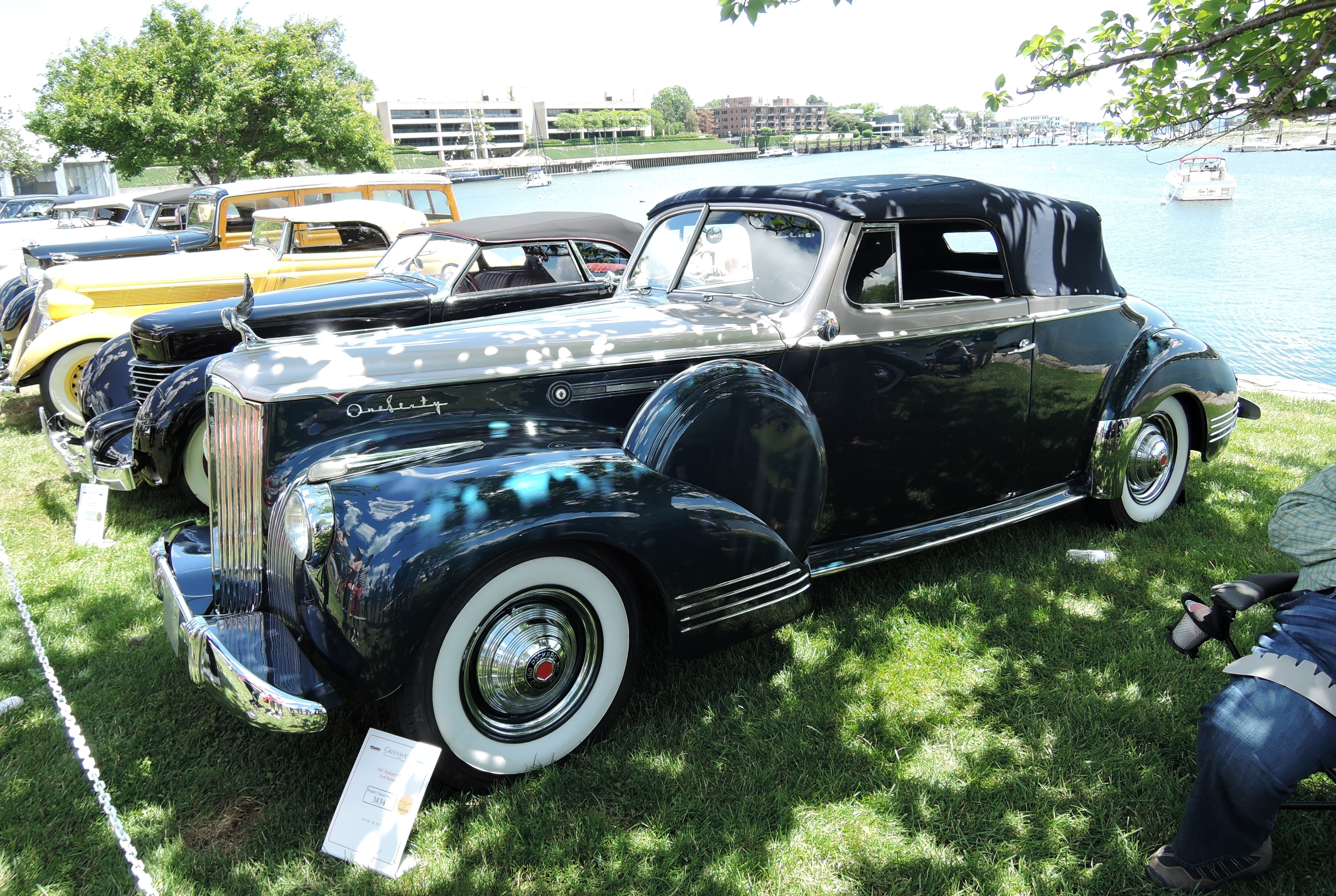 blue/silver 1941 Packard 1903 Convertible - Greenwich Concours d'Elegance 2017