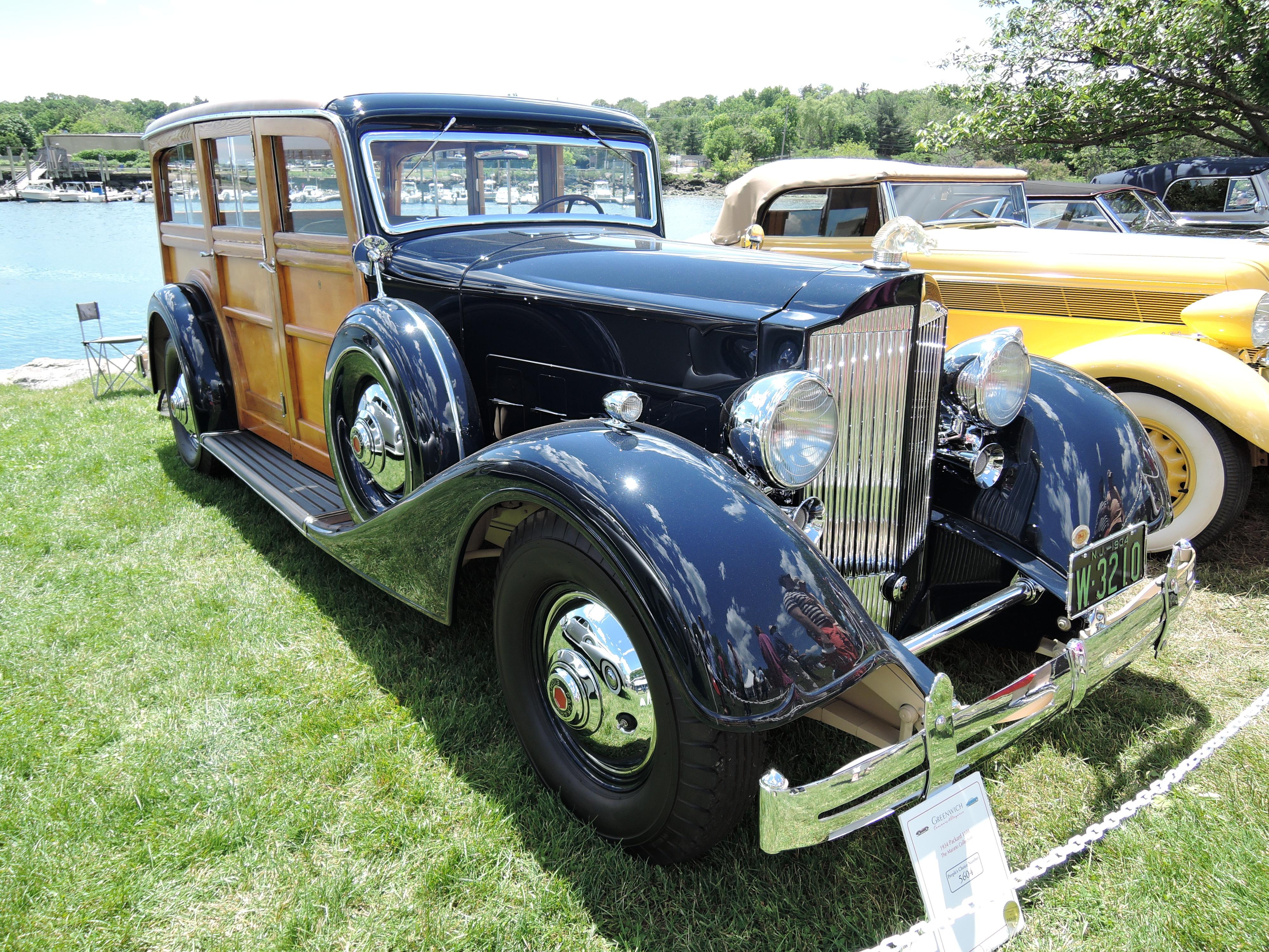 black/wood 1934 Packard 1101 Woody Wagon - Greenwich Concours d'Elegance 2017