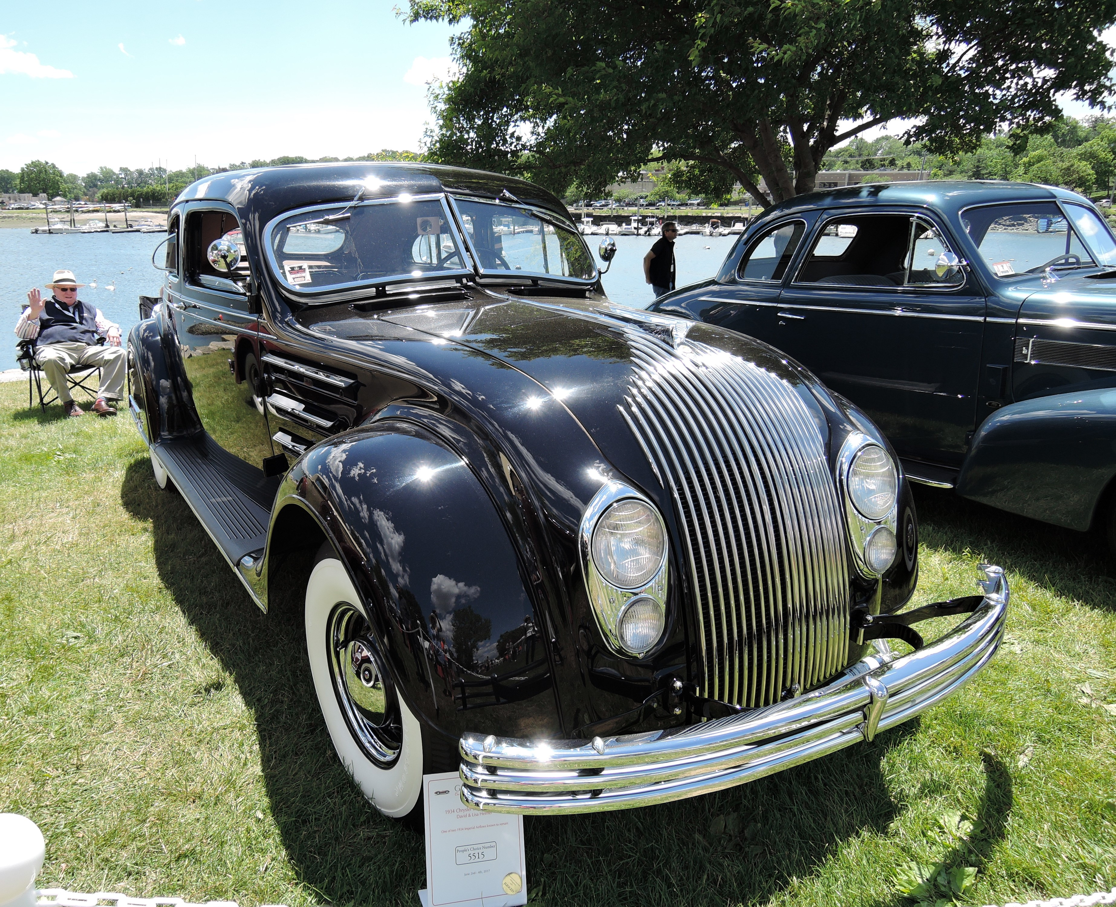 black 1934 Chrysler Imperial Airlow Coupe - Greenwich Concours d'Elegance 2017