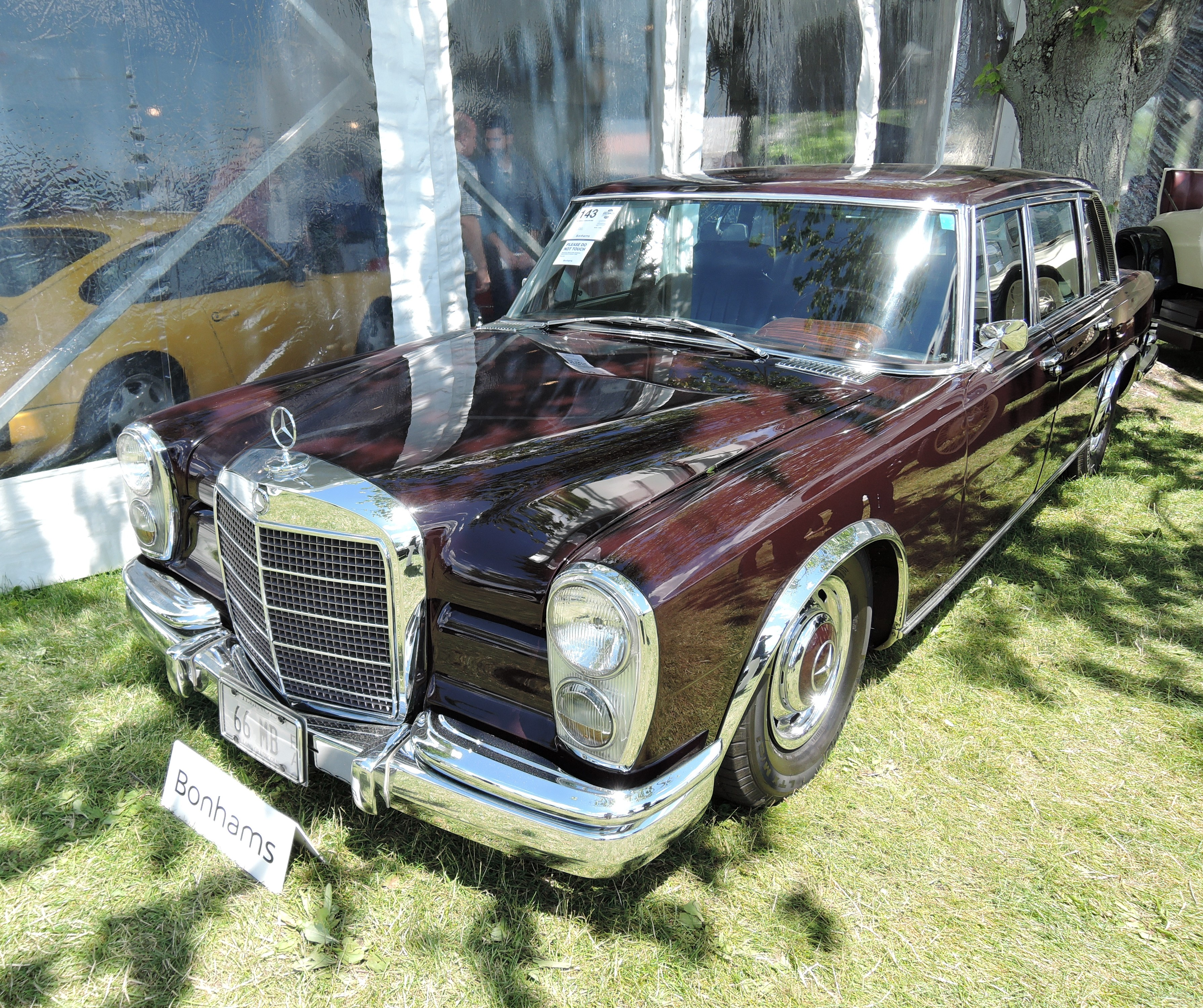 bonhams dark red 1966 Mercedes-Benz 600 SWB - Greenwich Concours d'Elegance 2017