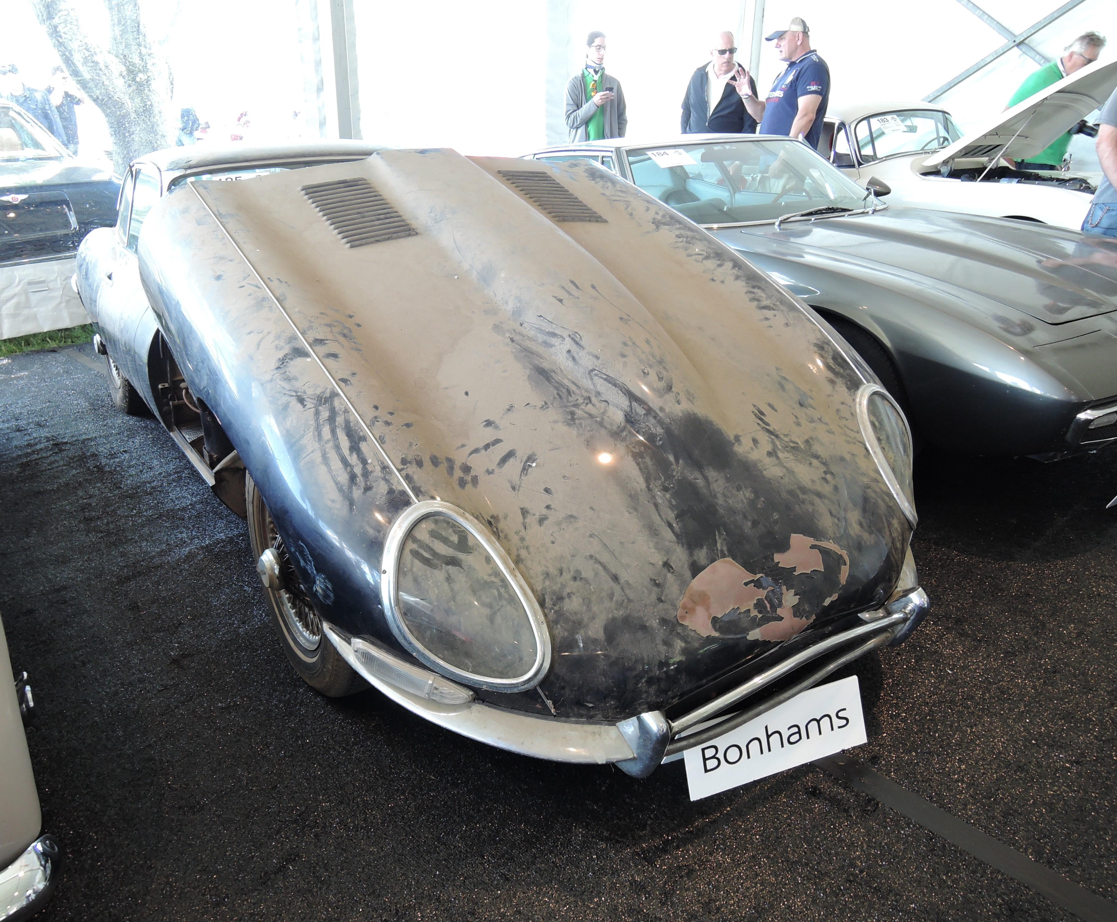 bonhams dark blue 1965 Jaguar E-Type Series I 4.2 Fixed Head Coupe - Greenwich Concours d'Elegance 2017