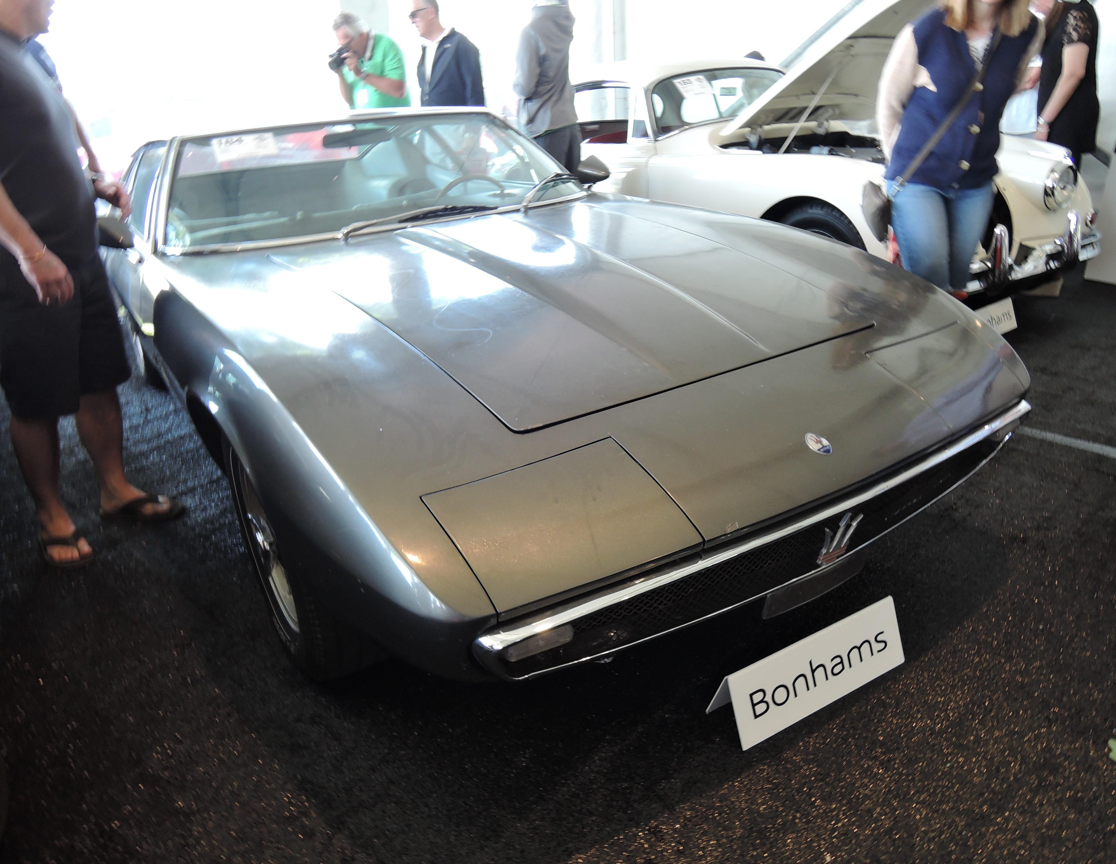 bonhams grey 1967 Maserati Ghibli 4.7 Coupe - Greenwich Concours d'Elegance 2017