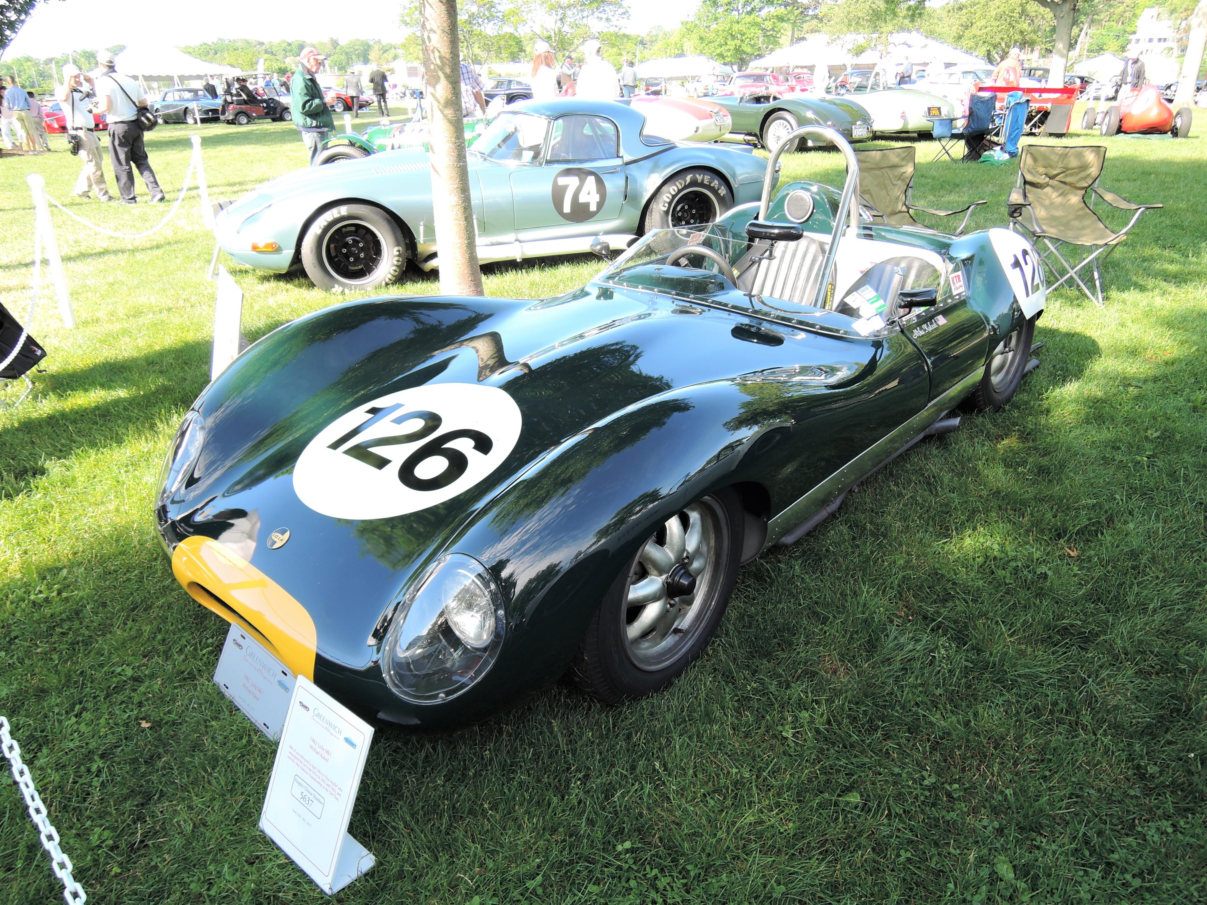 green 1962 Lola Mk1; #BR-30 - Greenwich Concours d'Elegance 2017