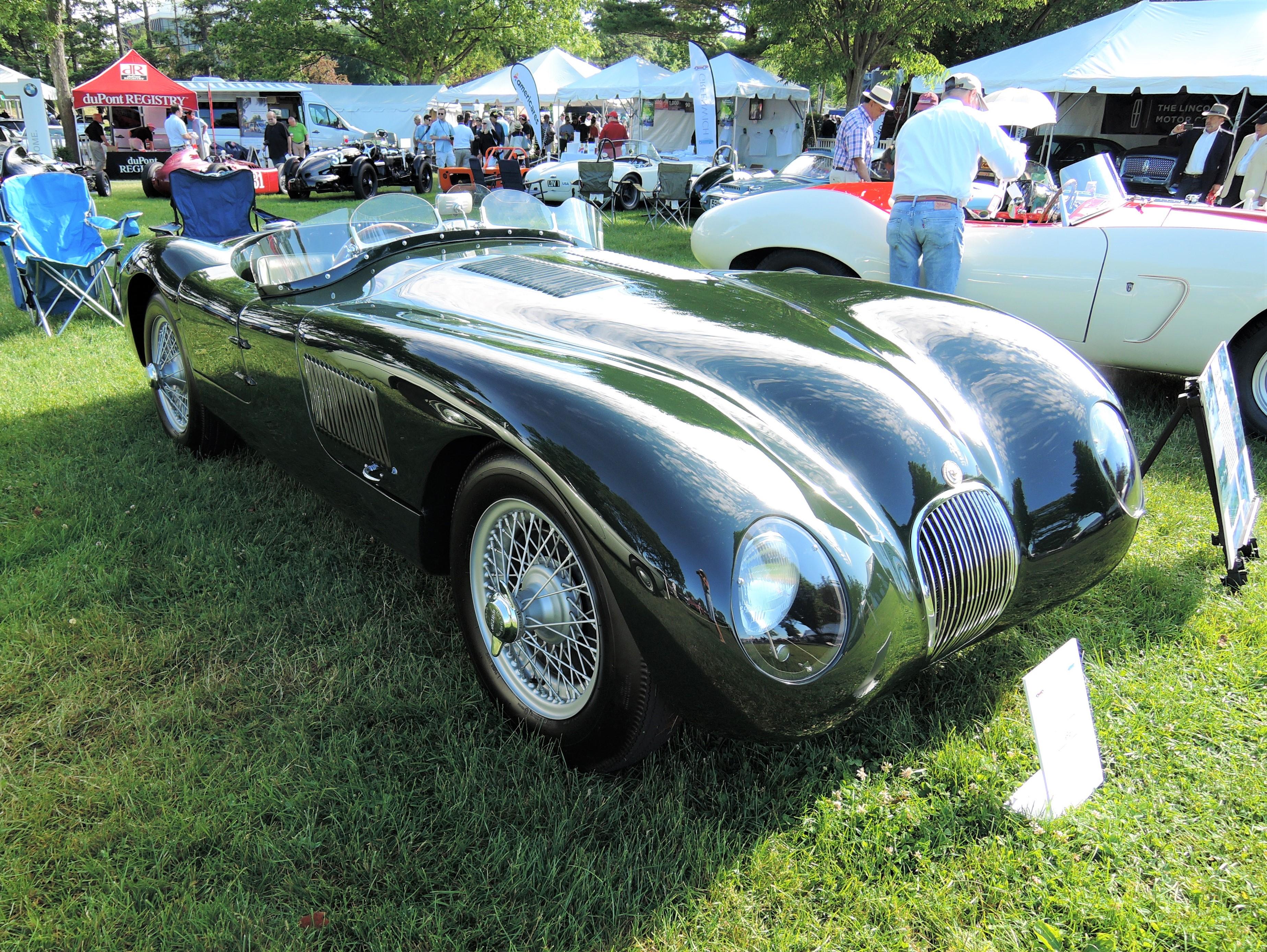green 1952 Jaguar C-Type Race Car - Greenwich Concours d'Elegance 2017