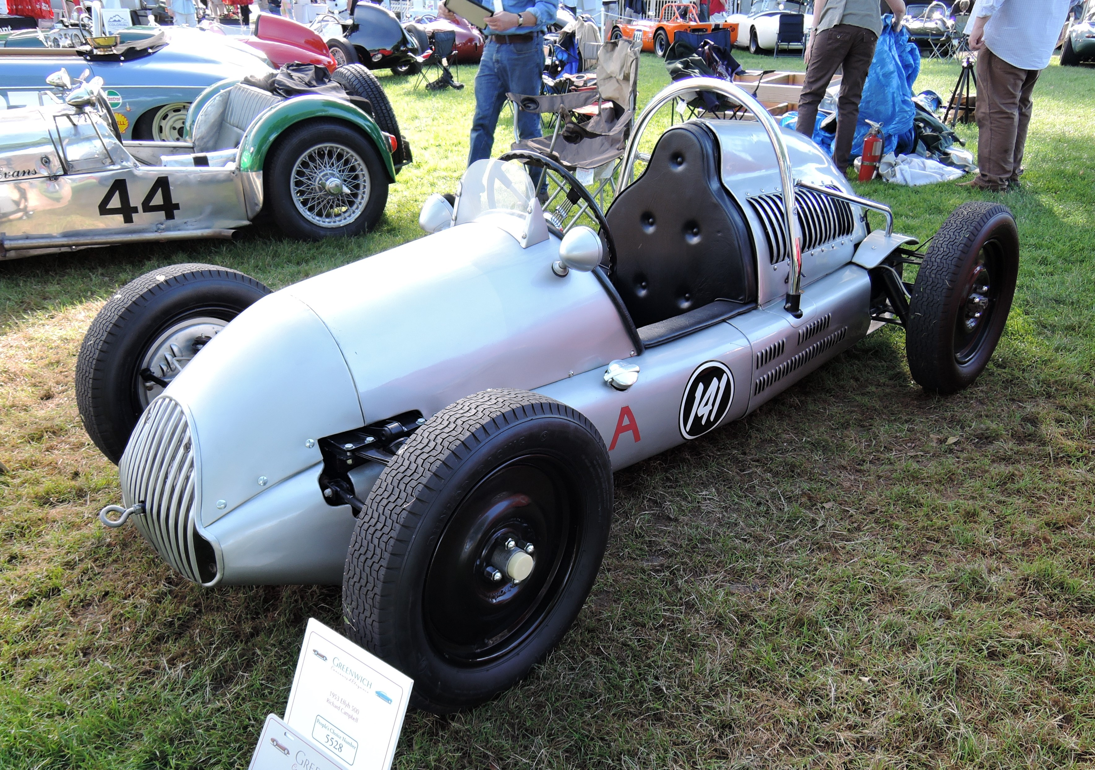 silver 1953 Effyh 500 Open Racing - Greenwich Concours d'Elegance 2017