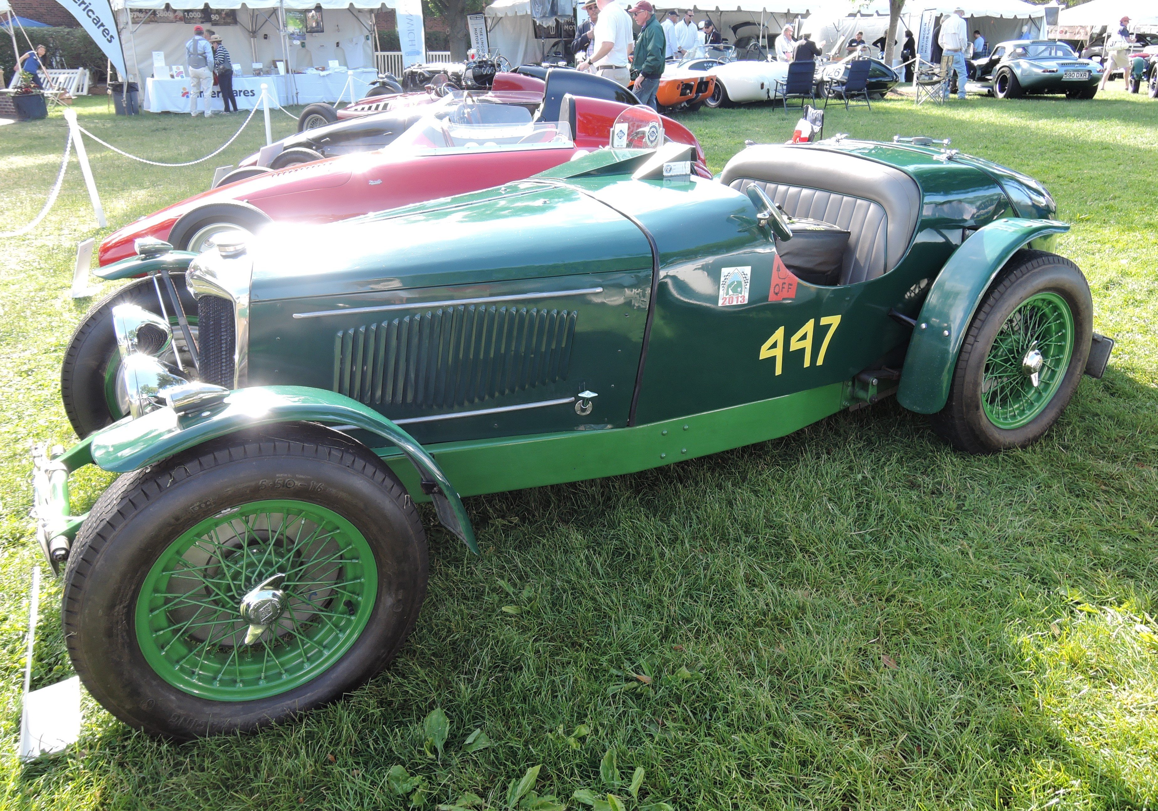 green 1934 Reilly Ulster Imp Roadster - Greenwich Concours d'Elegance 2017