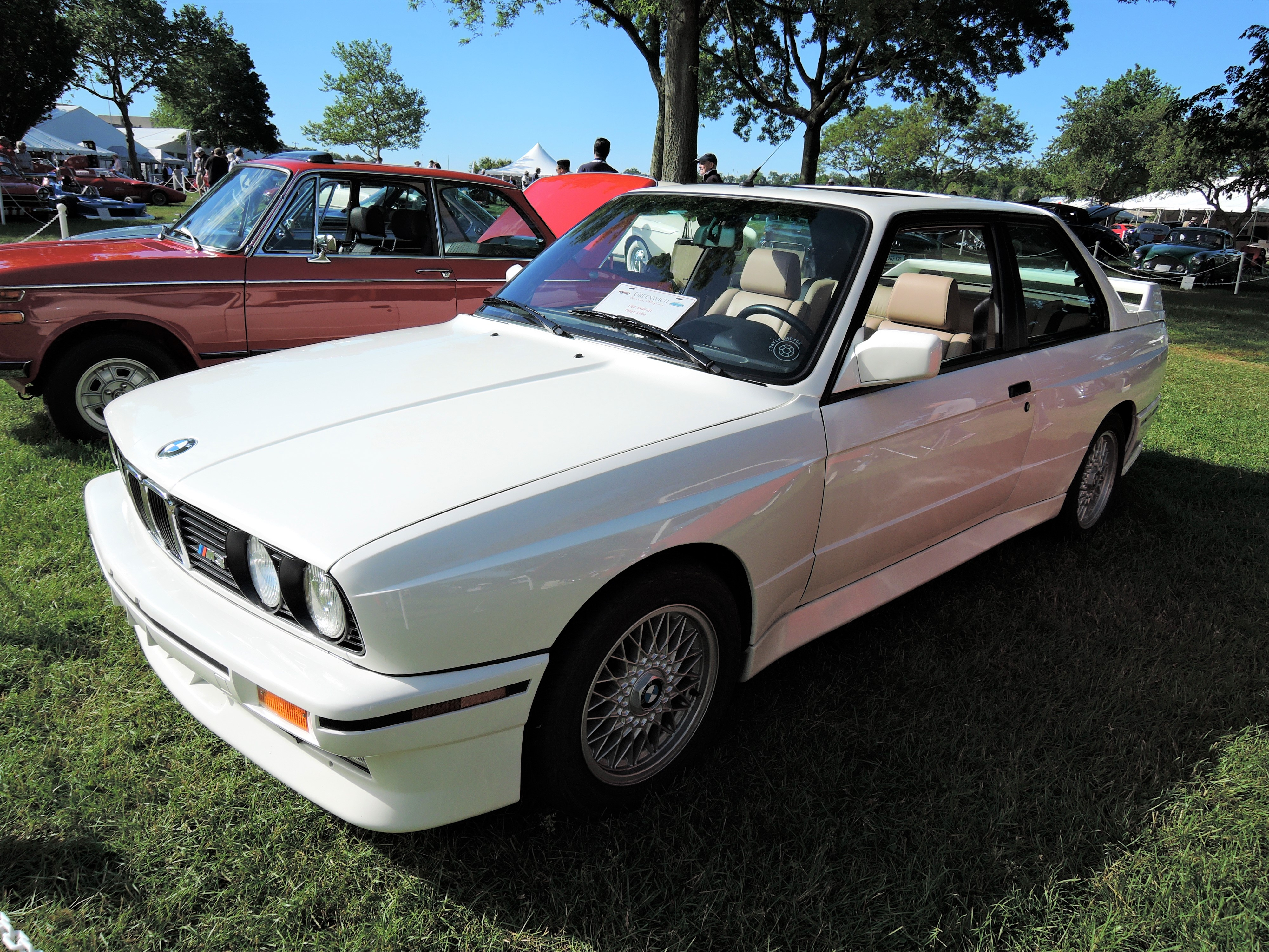 white 1988 BMW M3 - Greenwich Concours d'Elegance 2017
