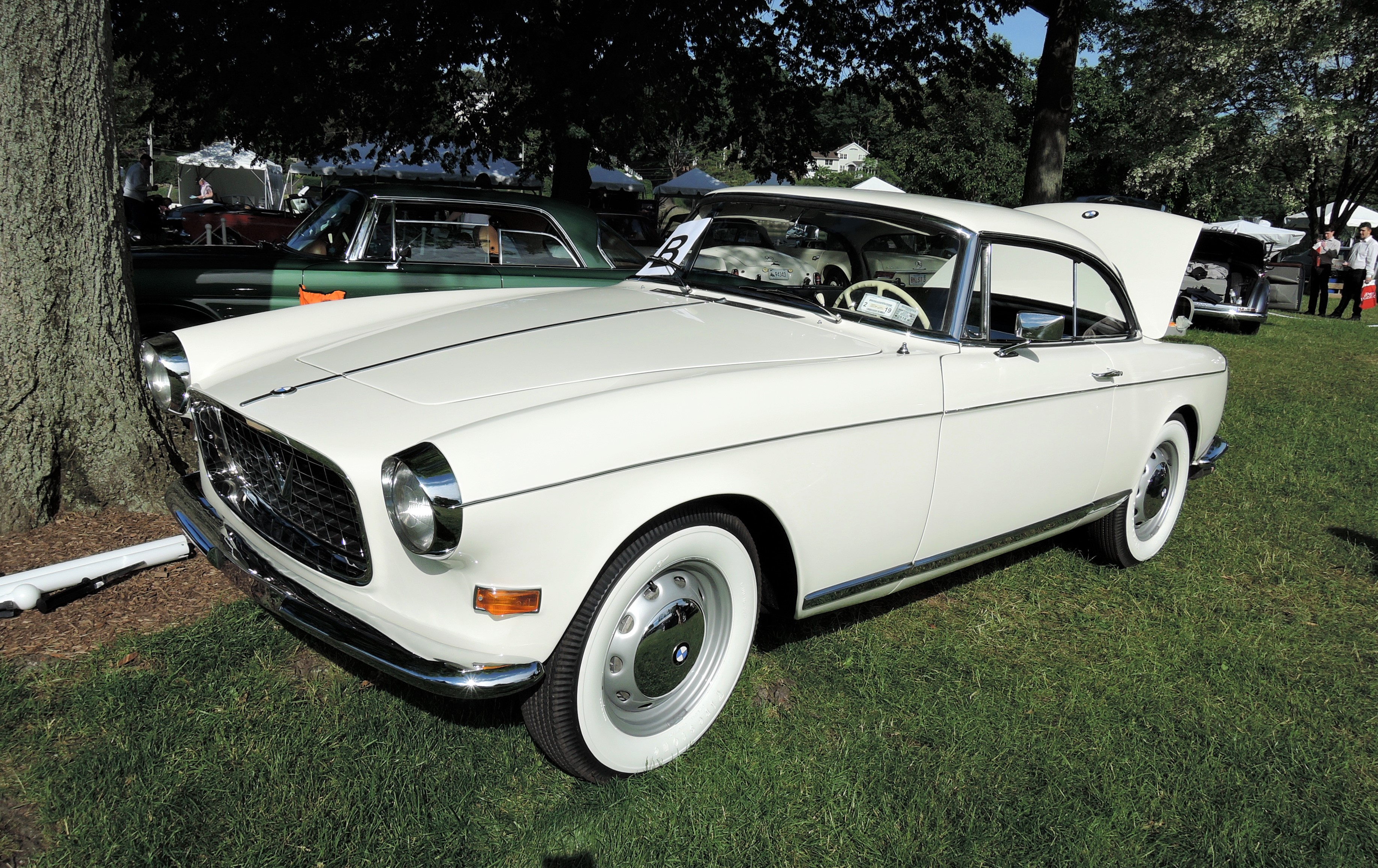 white 1957 BMW 503 Coupe - Greenwich Concours d'Elegance 2017