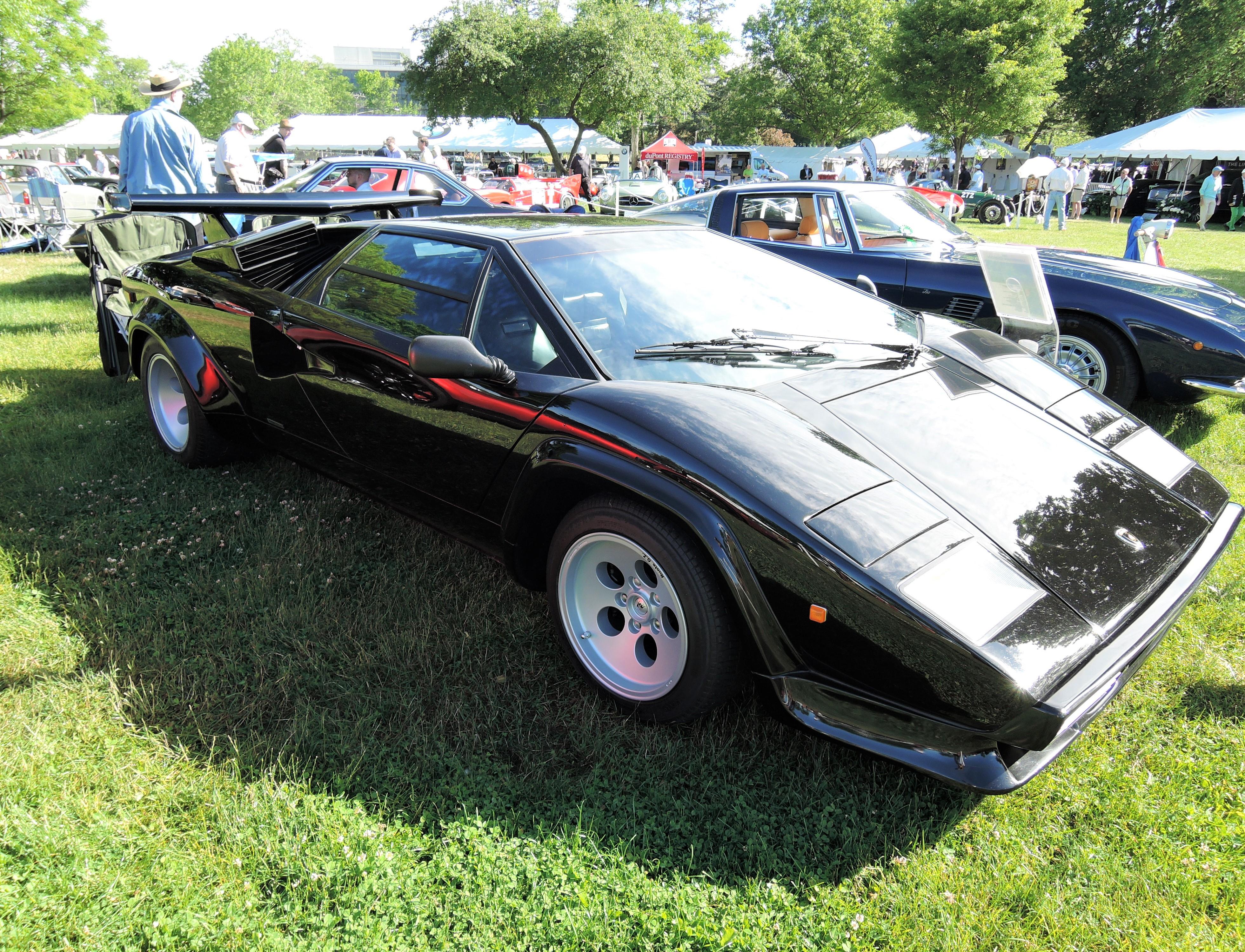 black 1983 Lamborghini Countach Coupe - Greenwich Concours d'Elegance 2017