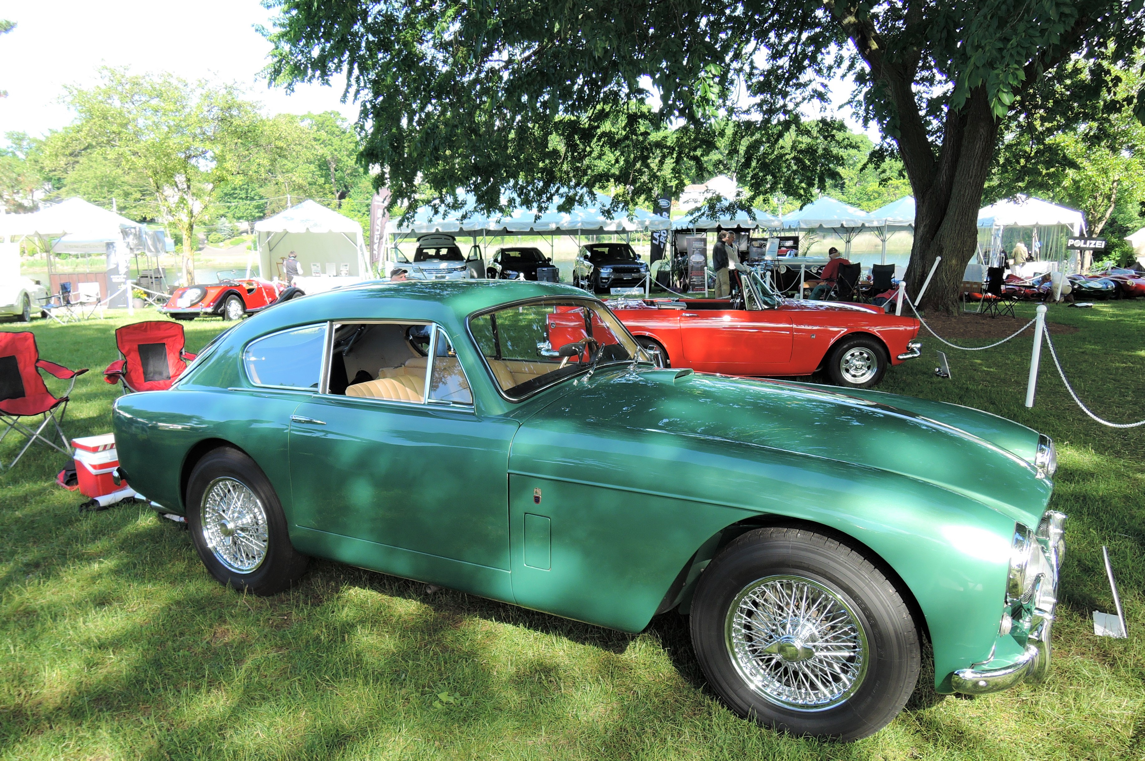 green 1958 Aston Martin DB 2/4 MK III Coupe - Greenwich Concours d'Elegance 2017
