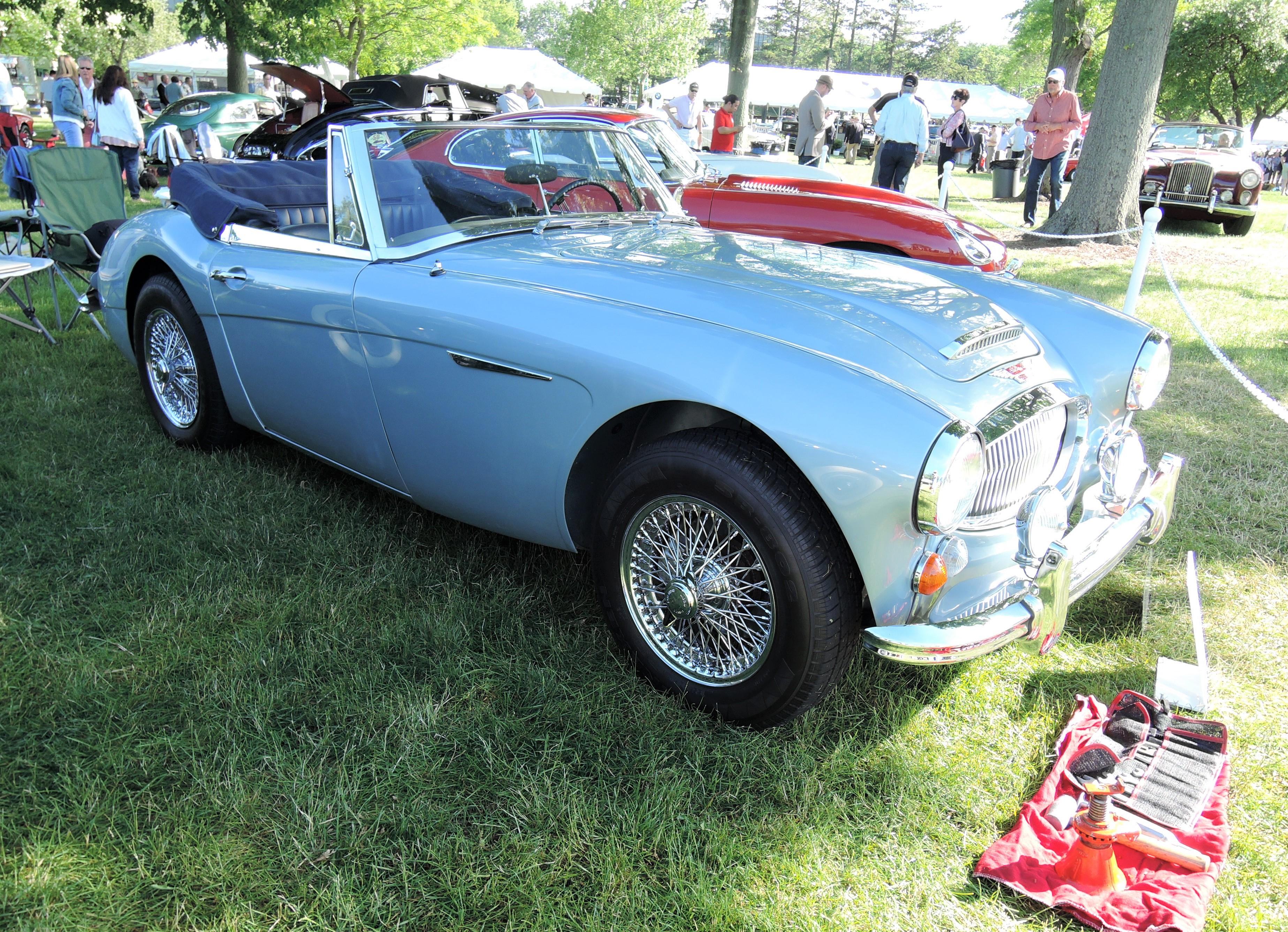 blue 1966 Austin-Healey 3000 Mk III (BJ8) - Greenwich Concours d'Elegance 2017