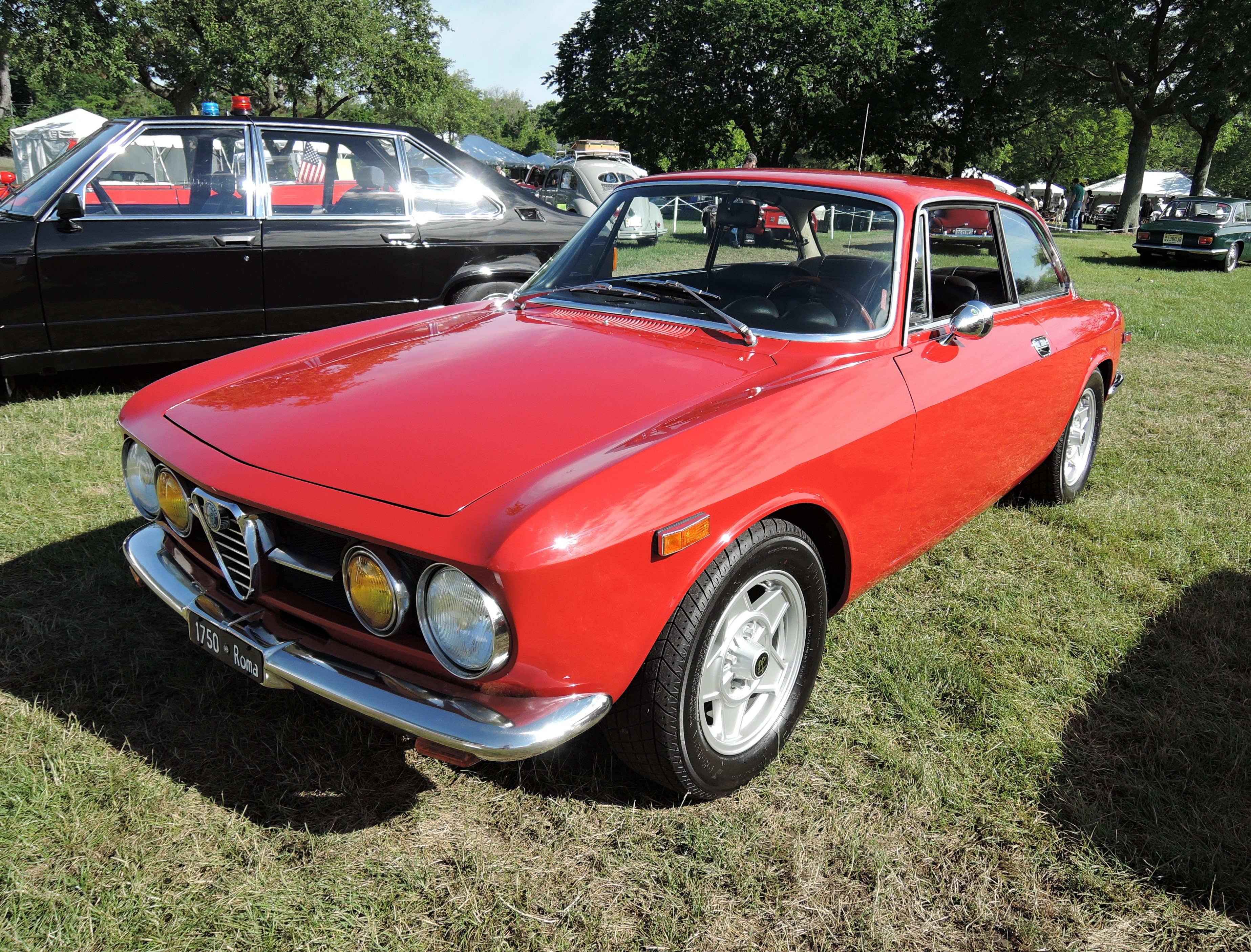 red 1971 Alfa Romeo 1750 GTV Coupe - Greenwich Concours d'Elegance 2017