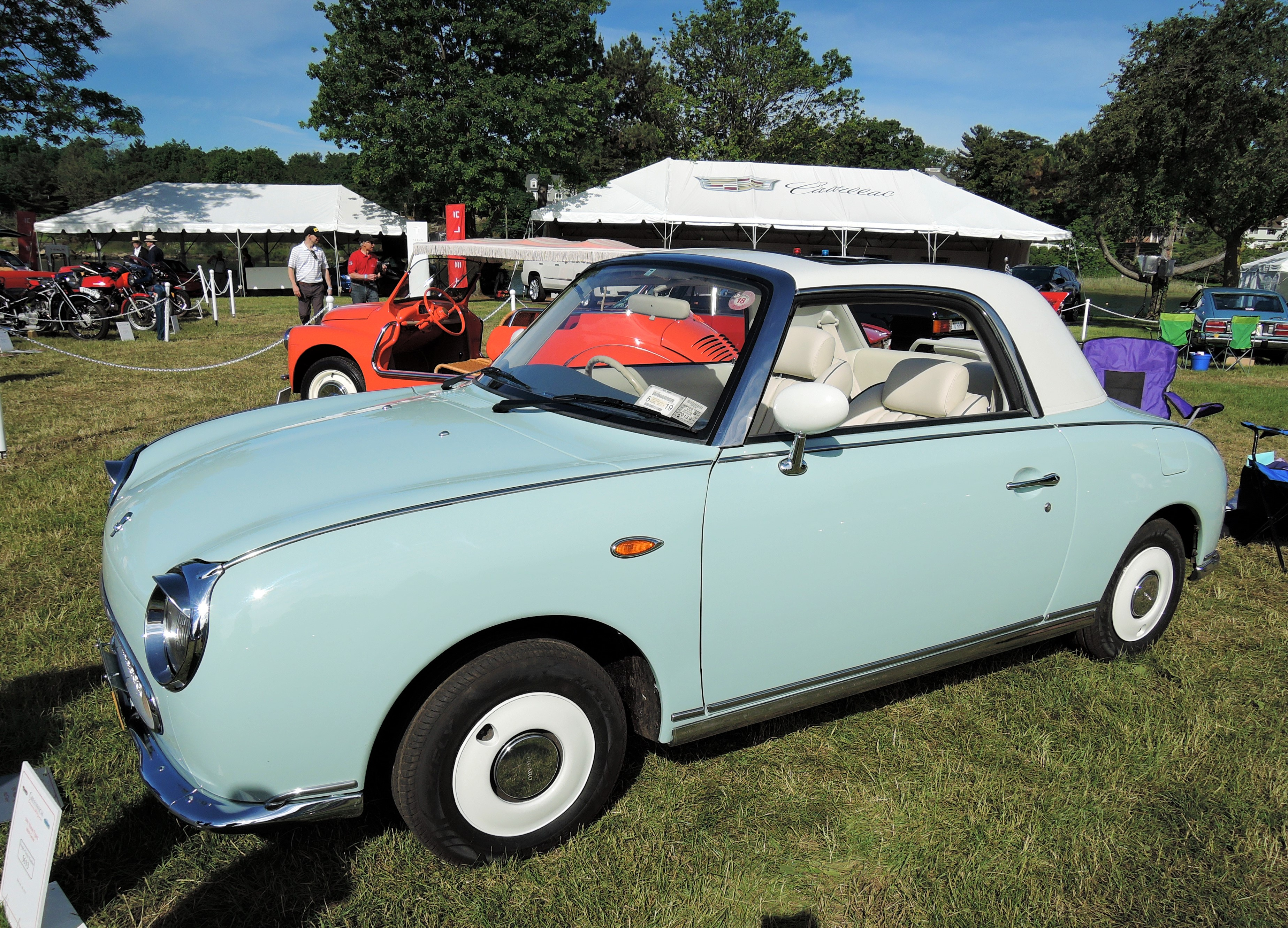 mint green 1991 Nissan Figaro Convertible - Greenwich Concours d'Elegance 2017