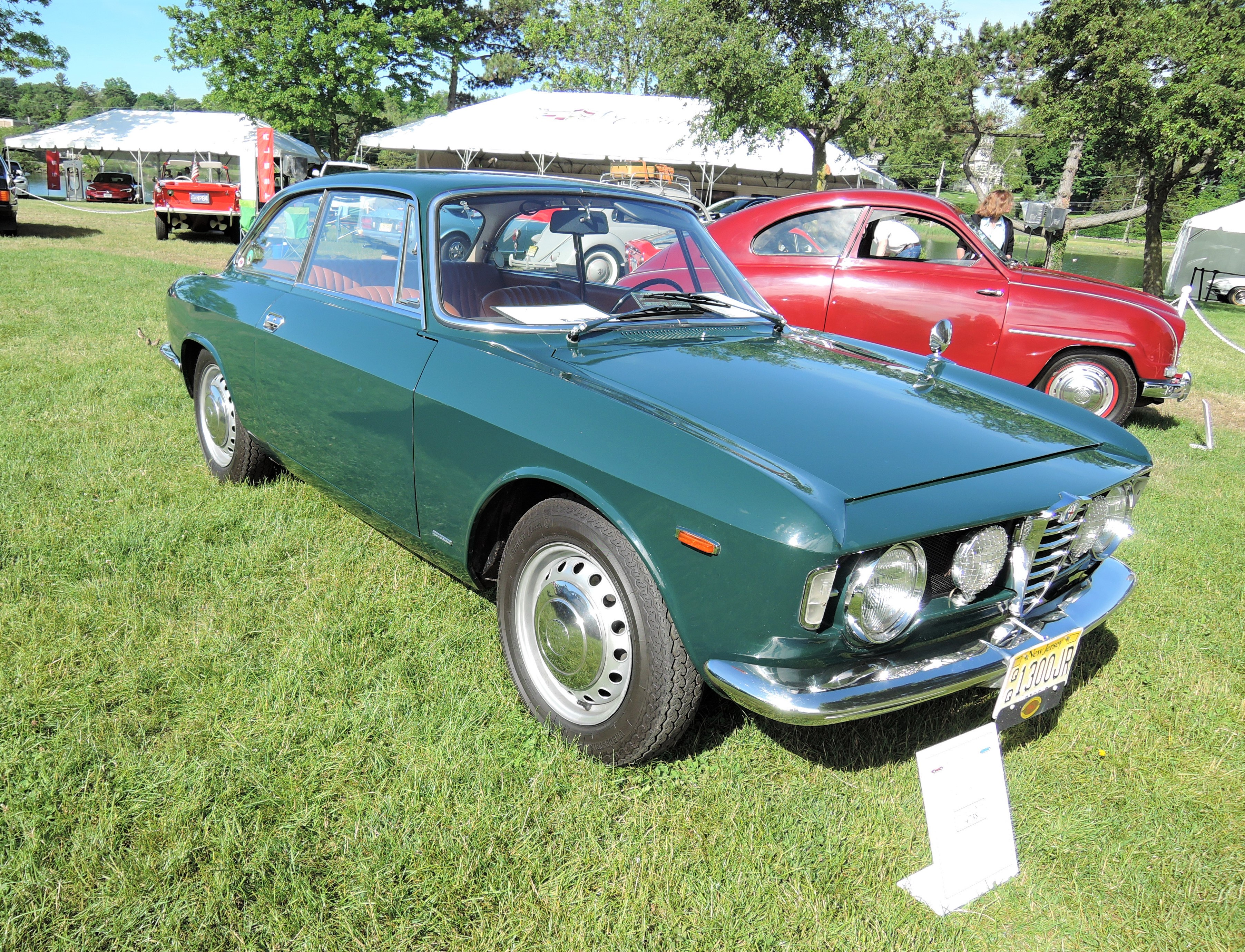 verde green 1967 Alfa Romeo GT 1300 Junior Coupe - Greenwich Concours d'Elegance 2017