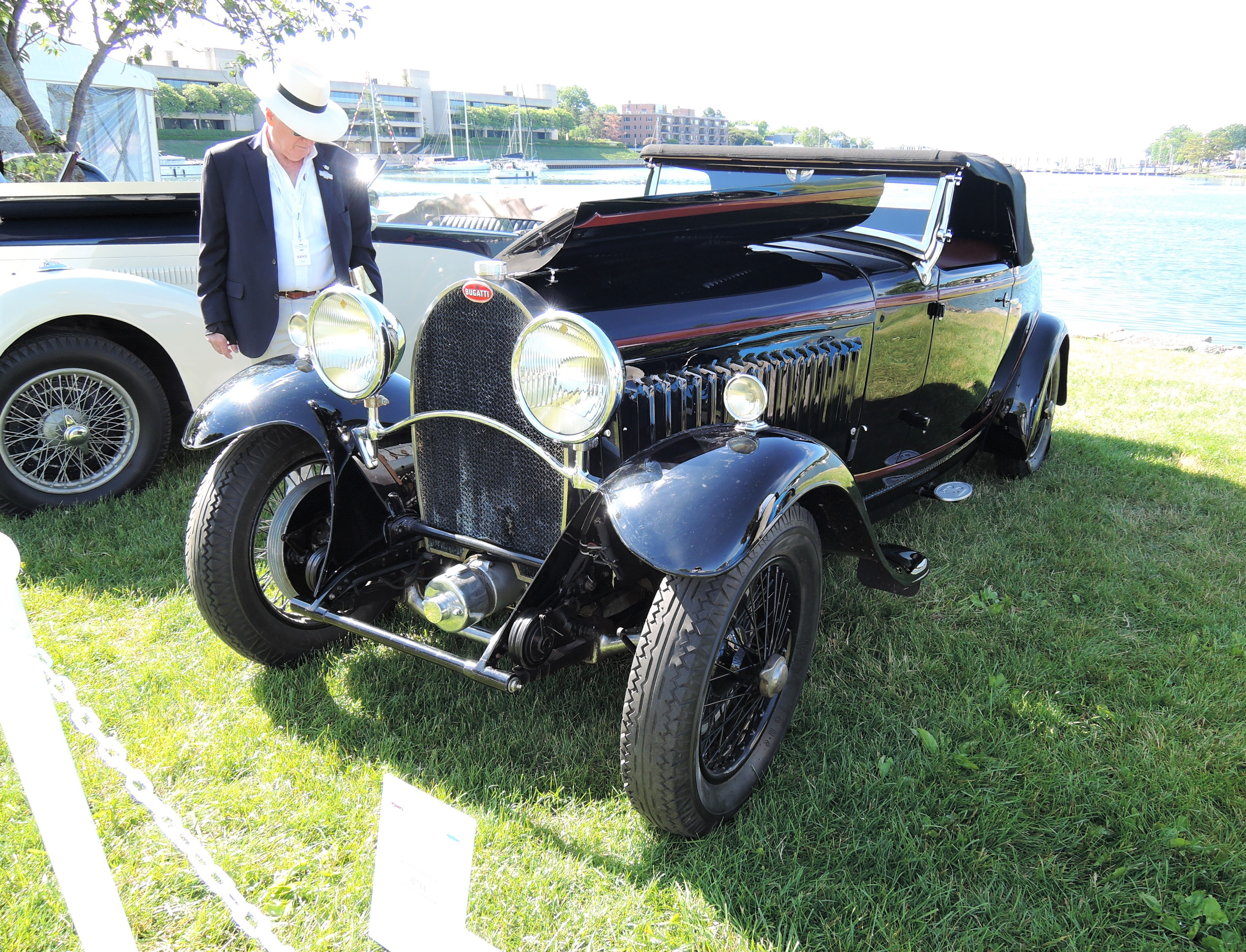 black 1932 Bugatti T49 - Greenwich Concours d'Elegance 2017
