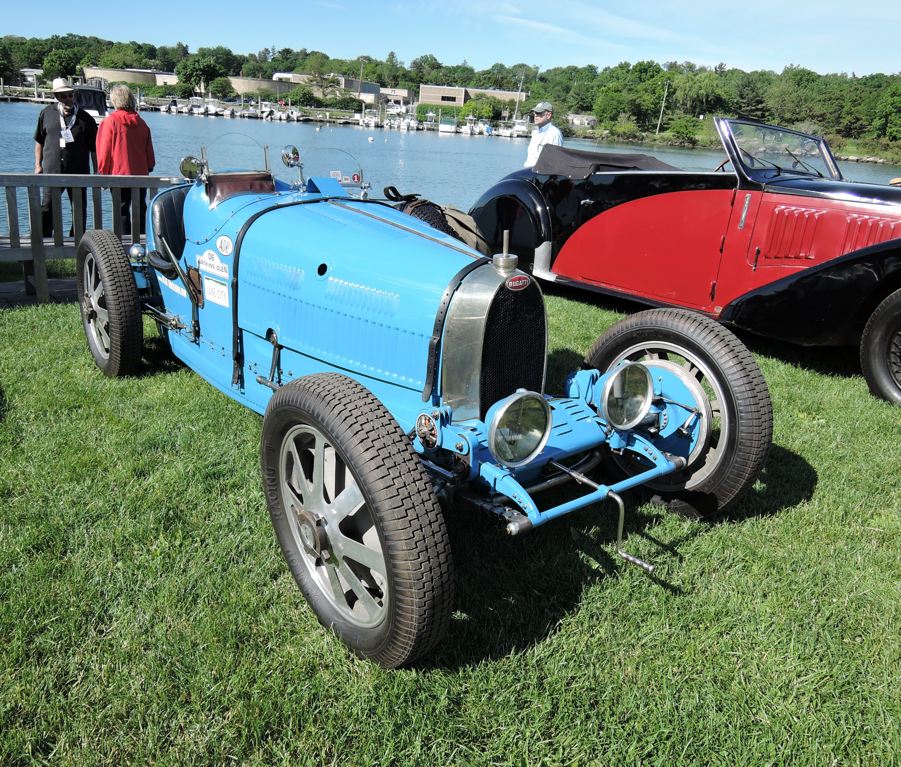 blue 1927 Bugatti 37A - Greenwich Concours d'Elegance 2017