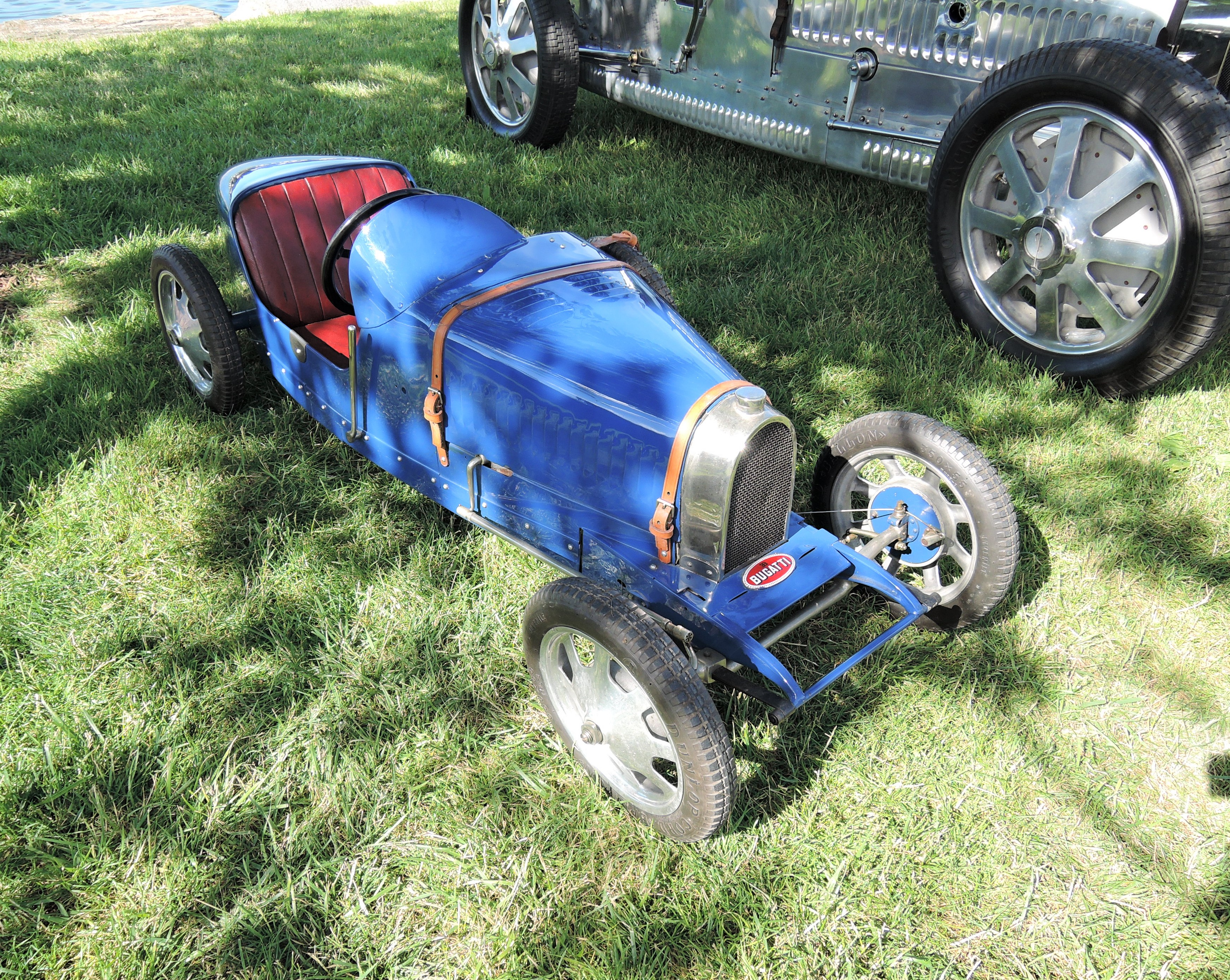 blue Bugatti child's car - Greenwich Concours d'Elegance 2017