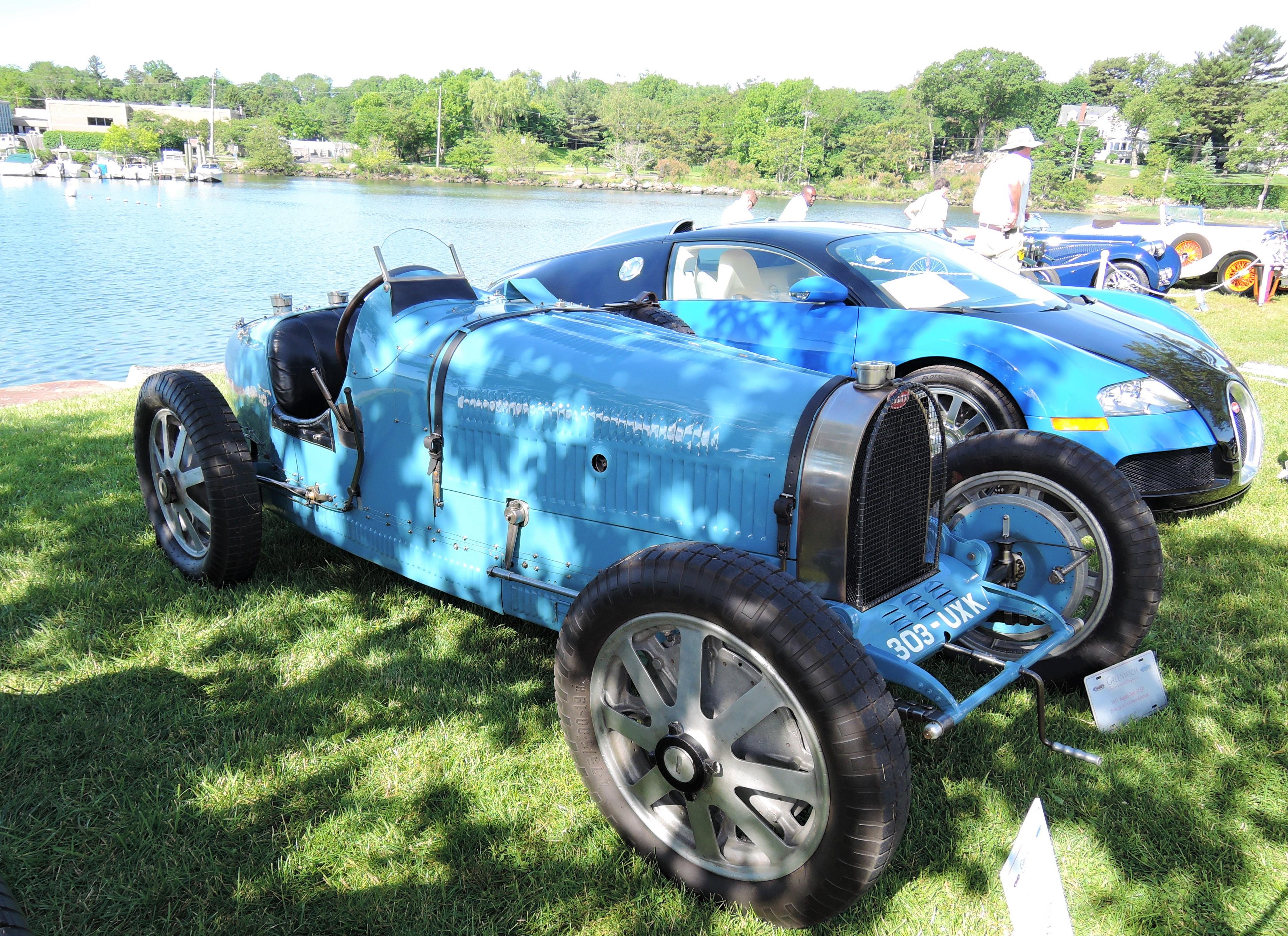 blue 1931 Bugatti Type 51 Grand Prix Roadster - Greenwich Concours d'Elegance 2017