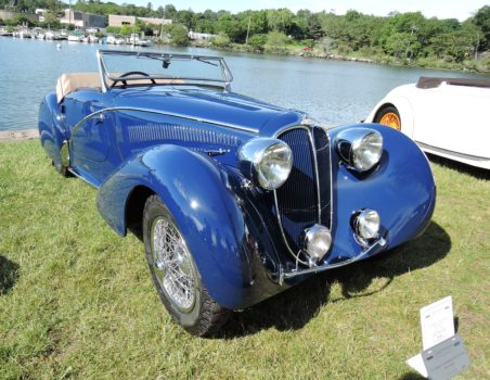 blue 1937 Delahaye 135M Competition Short Wheel Base Roadster - Greenwich Concours d'Elegance 2017
