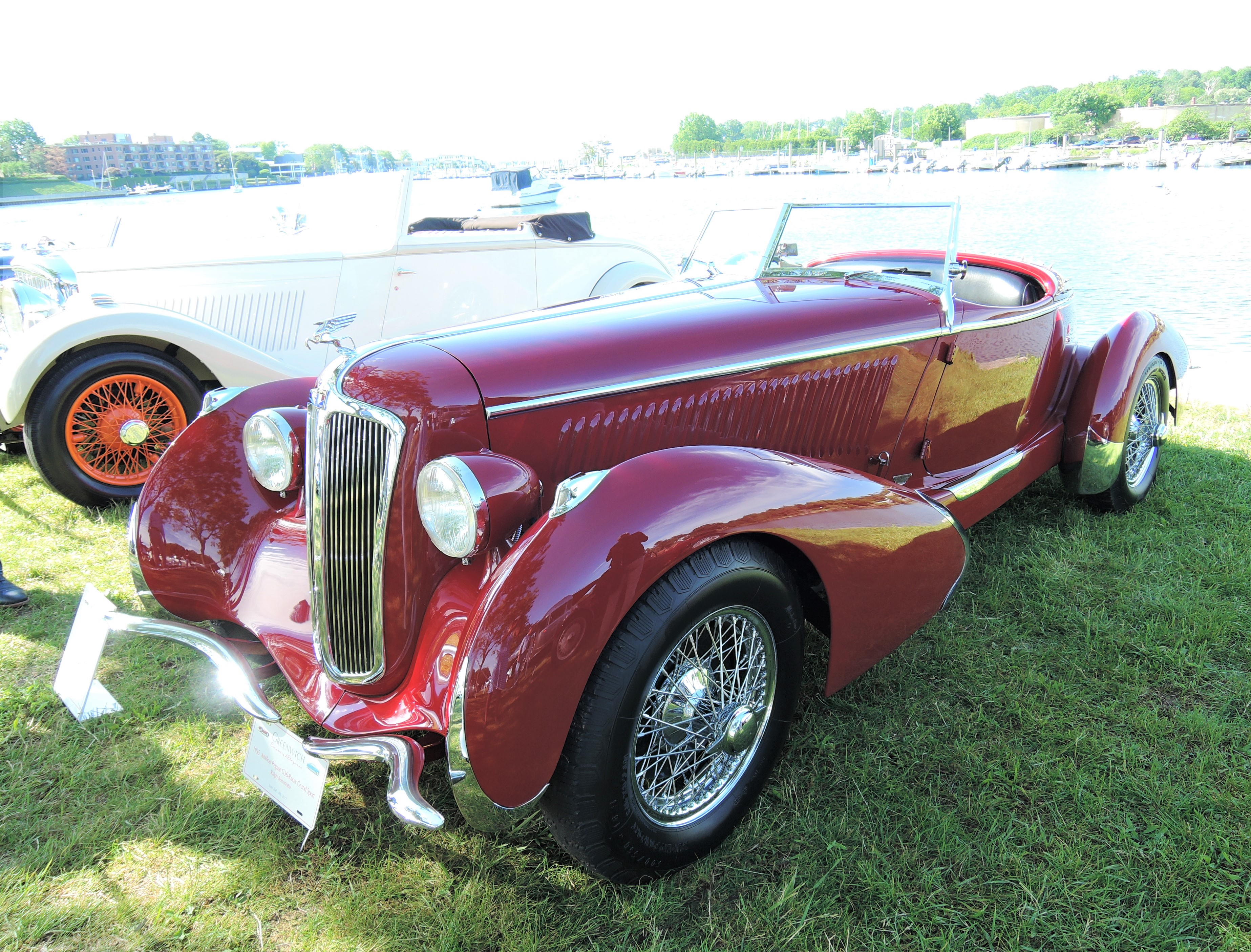 red 1935 Amilcar Pegase G36-Racer Grand Sport Roadster - Greenwich Concours d'Elegance 2017