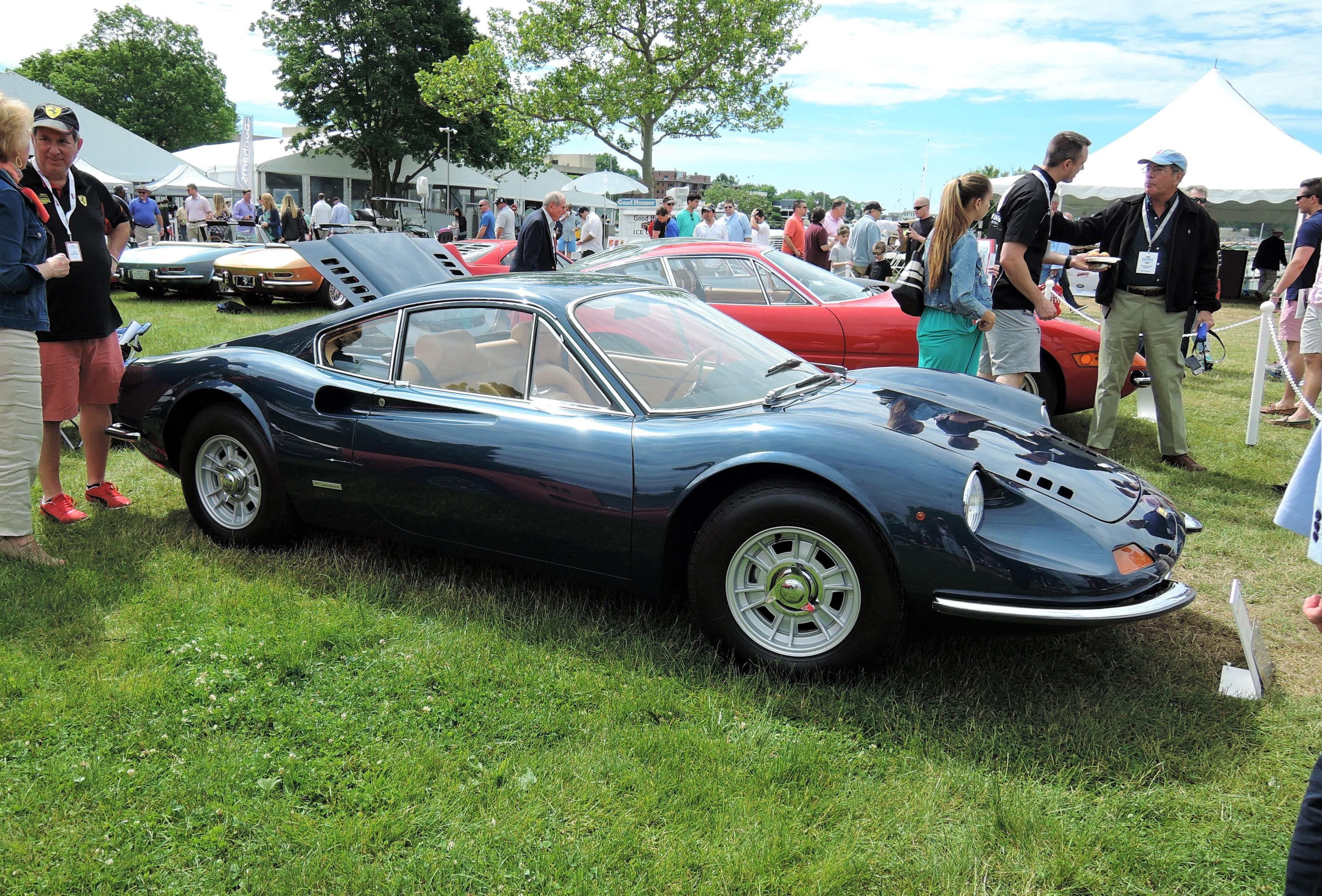 black 1970 Ferrari Dino 246 GT 'L-Series - Greenwich Concours d'Elegance 2017