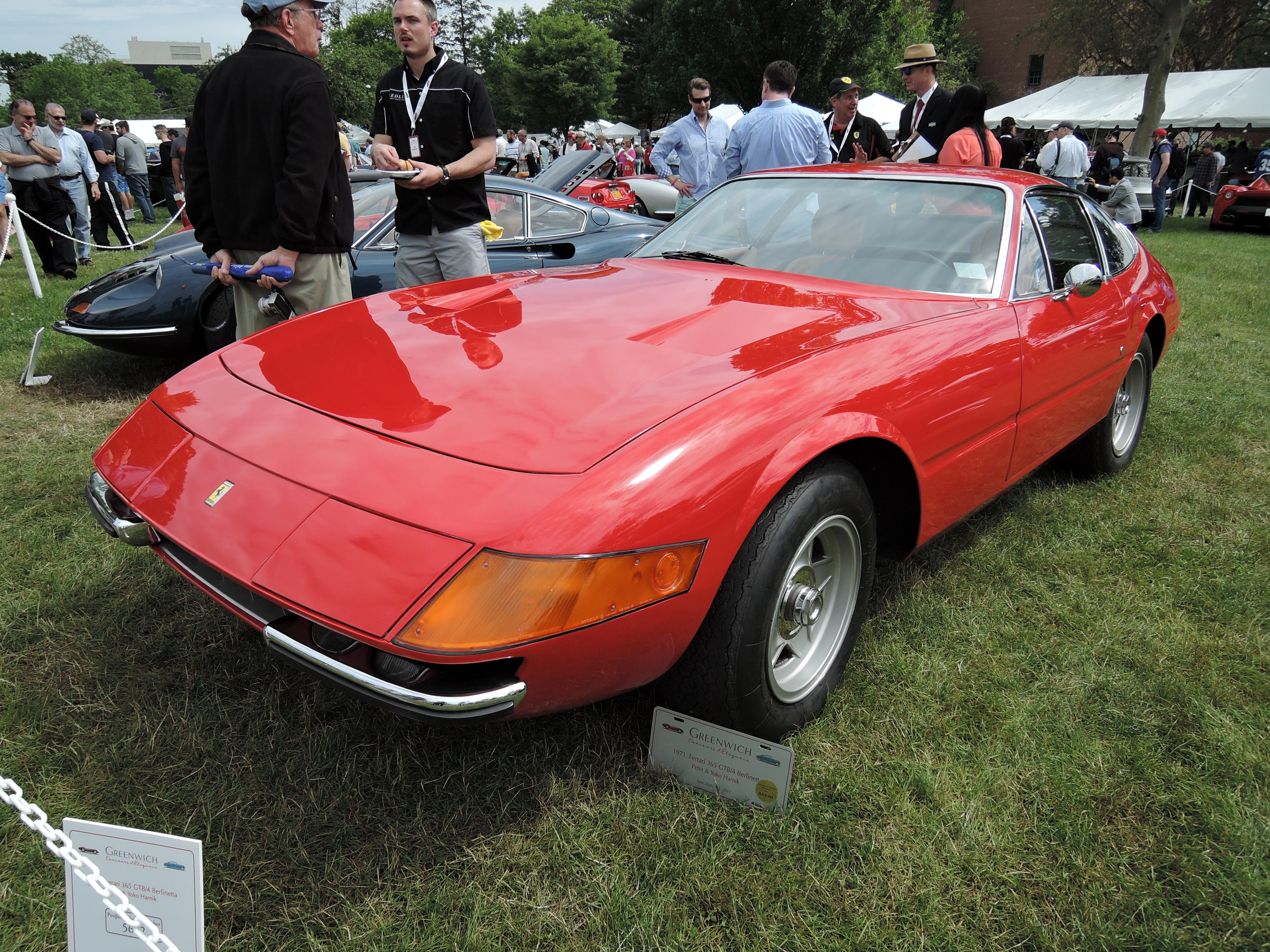 red 1971 Ferrari 365 GTB/4 Berlinetta - Greenwich Concours d'Elegance 2017