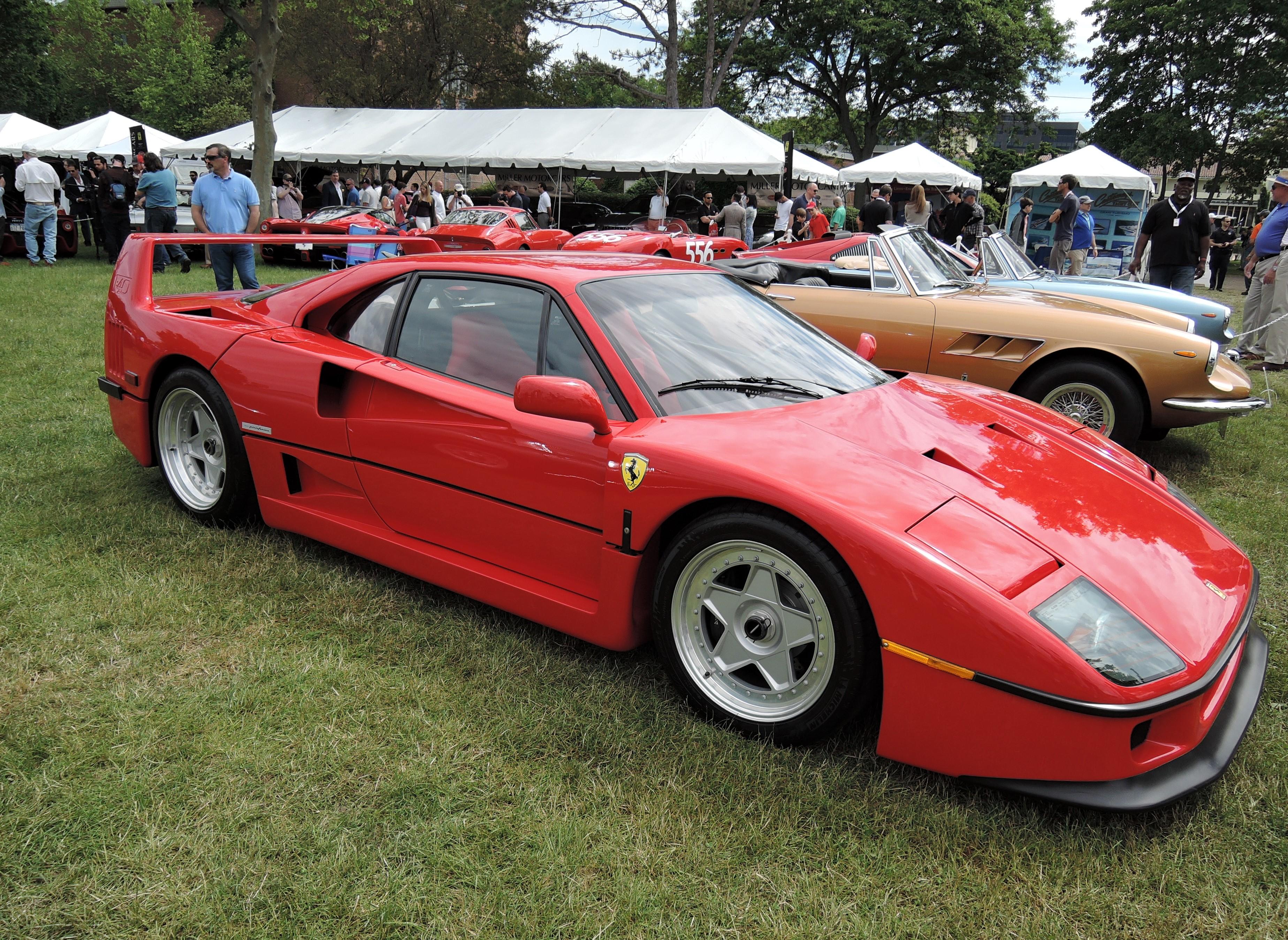 red 1991 Ferrari F40 - Greenwich Concours d'Elegance 2017