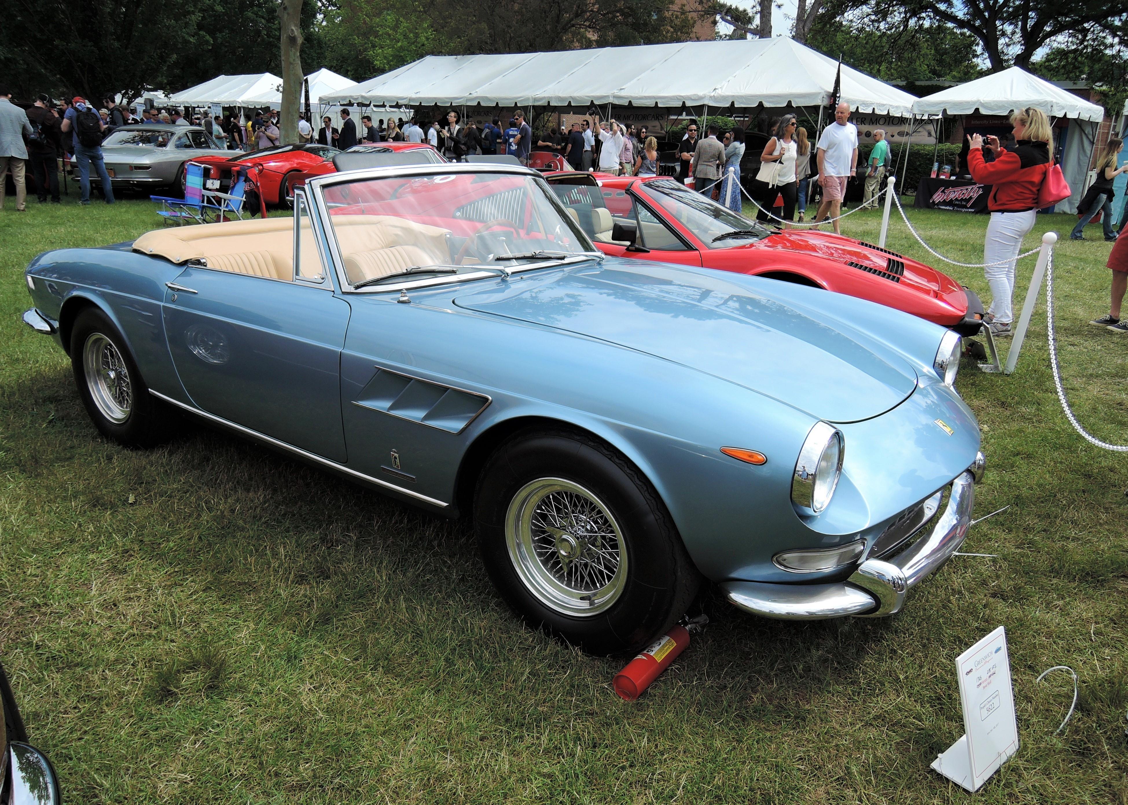 blue 1966 Ferrari 275 GTS - Greenwich Concours d'Elegance 2017