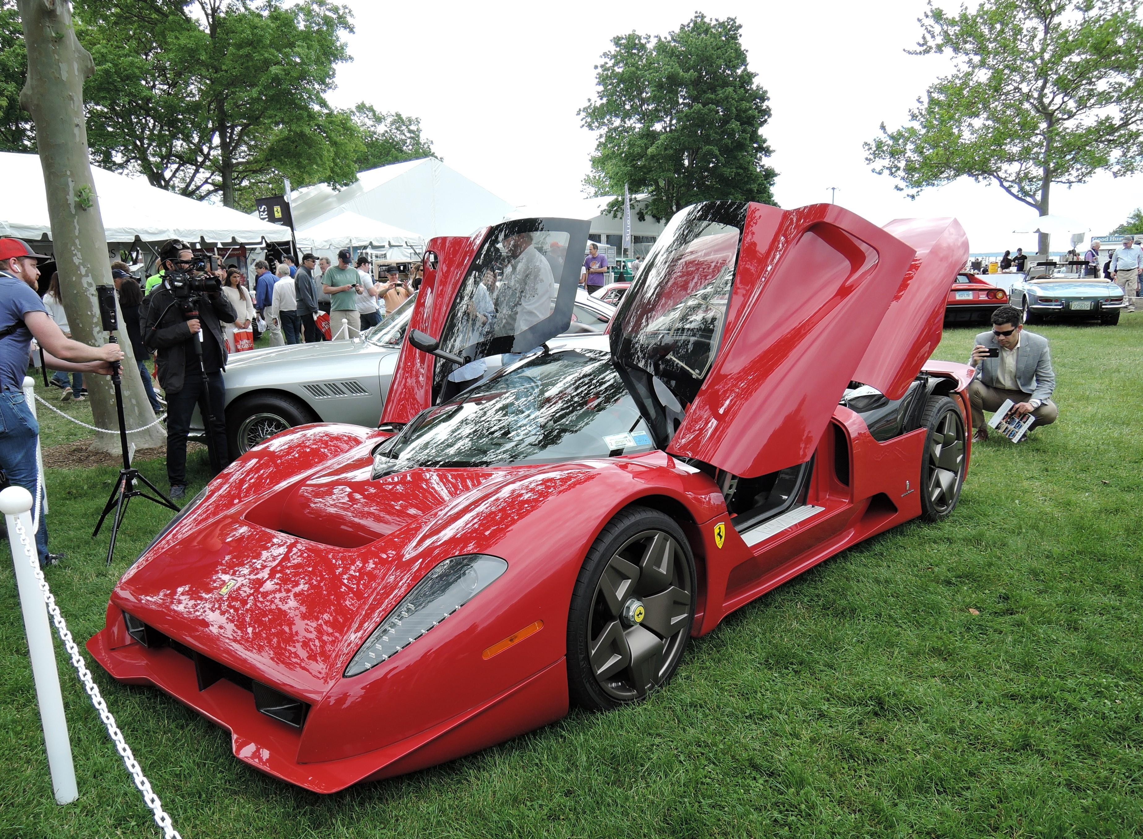 red Ferrari P4/5 - Greenwich Concours d'Elegance 2017