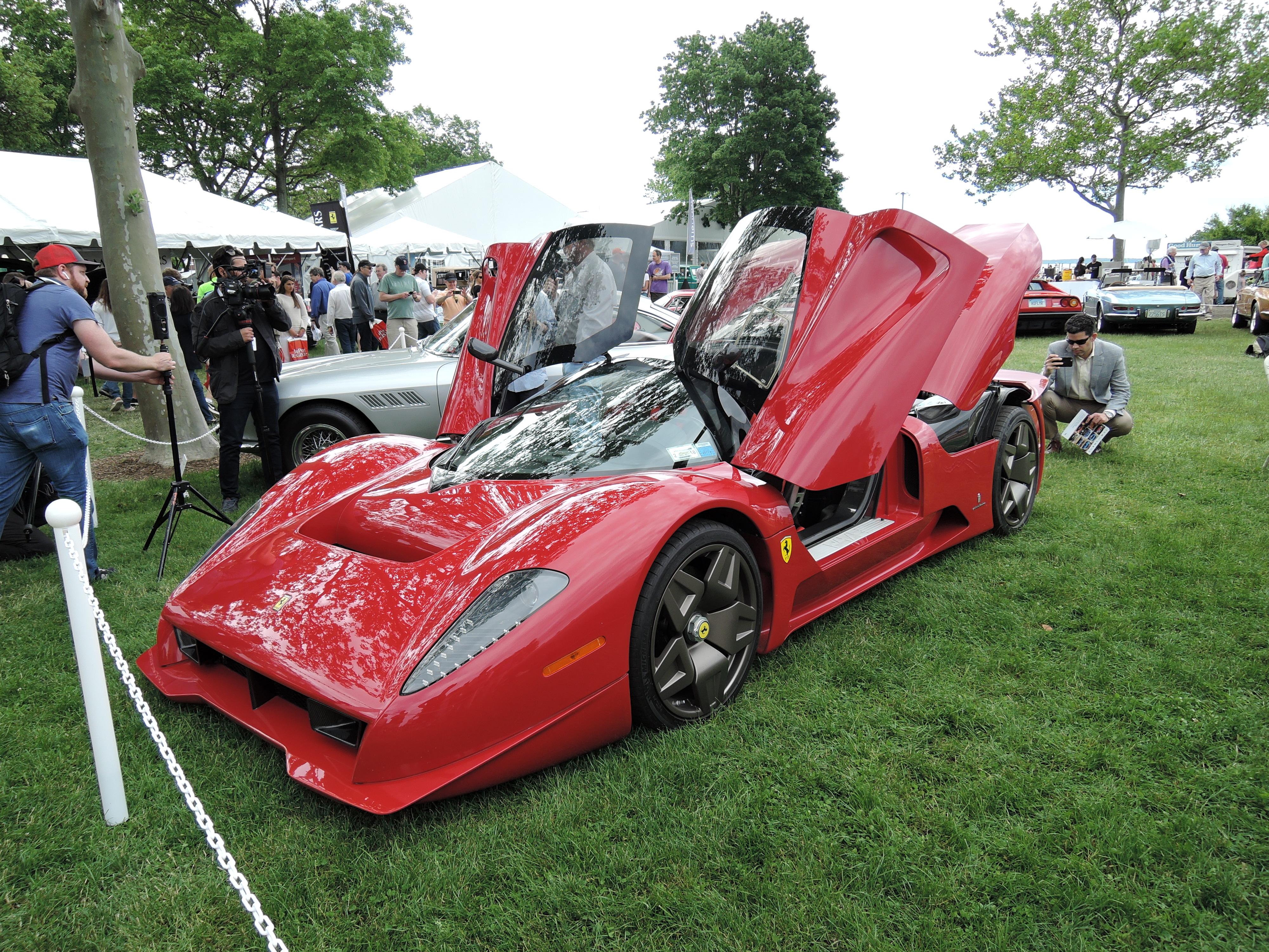 red 2006 Ferrari P4/5 - Greenwich Concours d'Elegance 2017