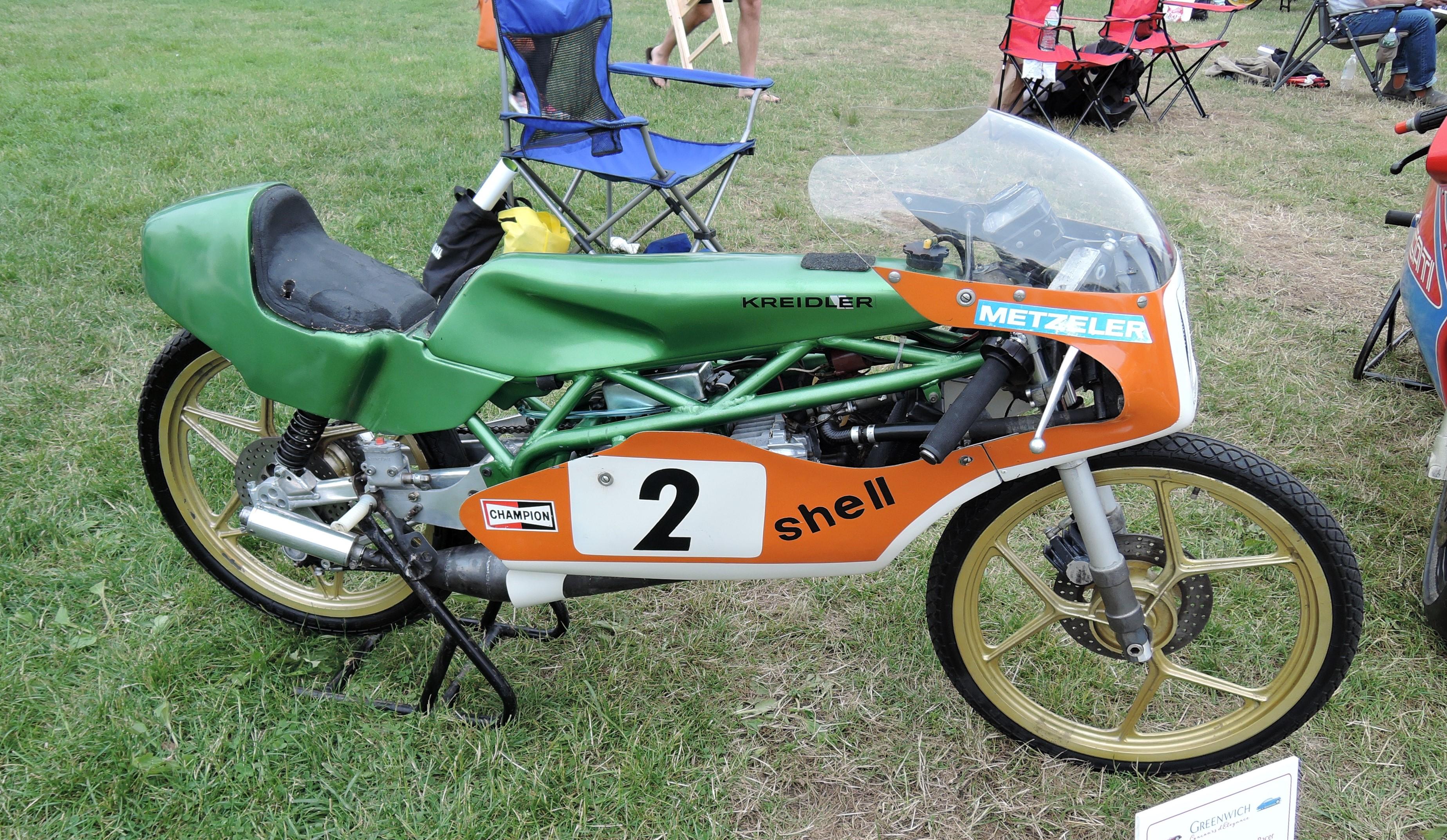 green/orange 1981 Kreidler 50cc Grand Prix Racer - Greenwich Concours d'Elegance 2017