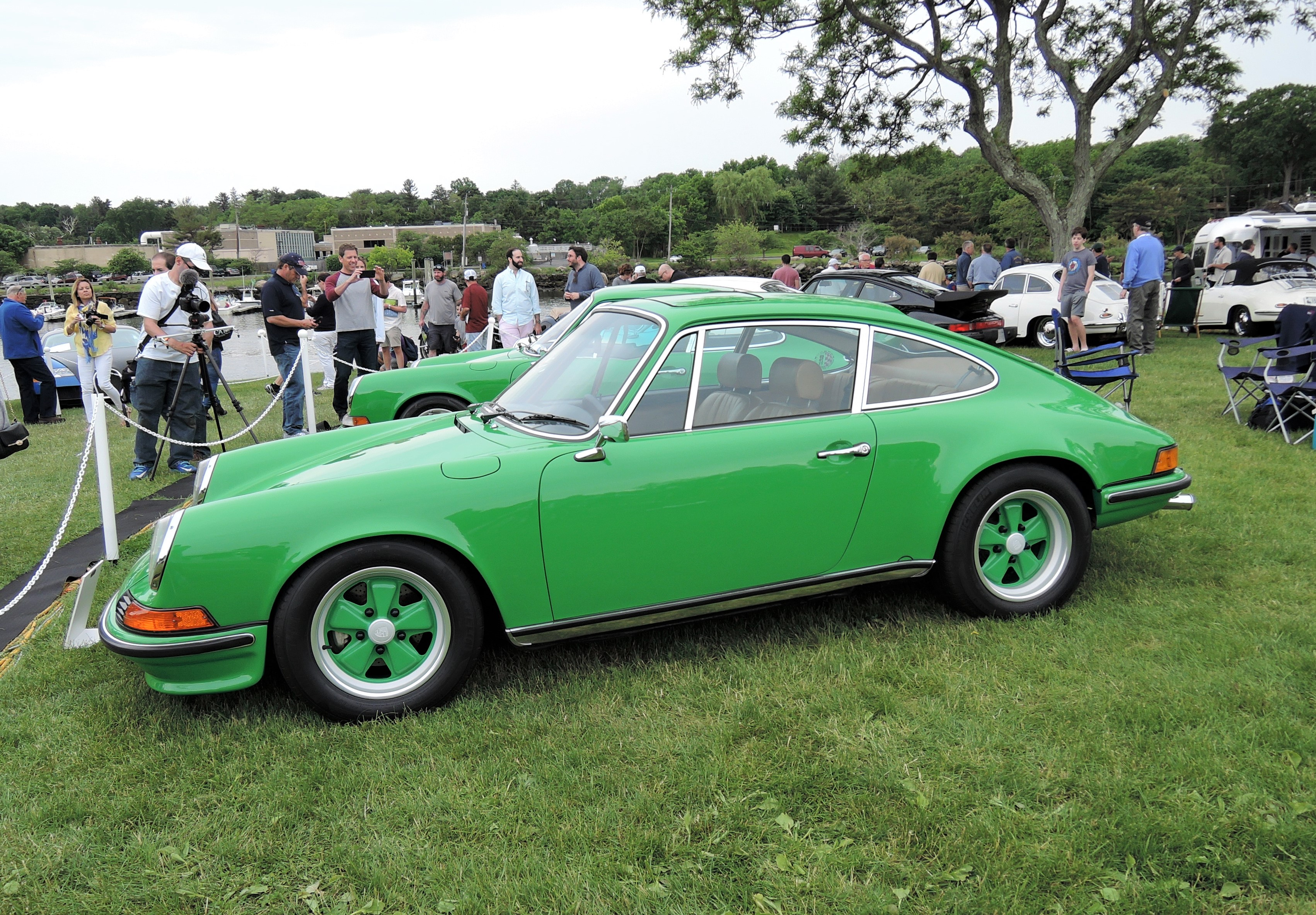 green 1972 Porsche 911S Coupe - Greenwich Concours d'Elegance 2017