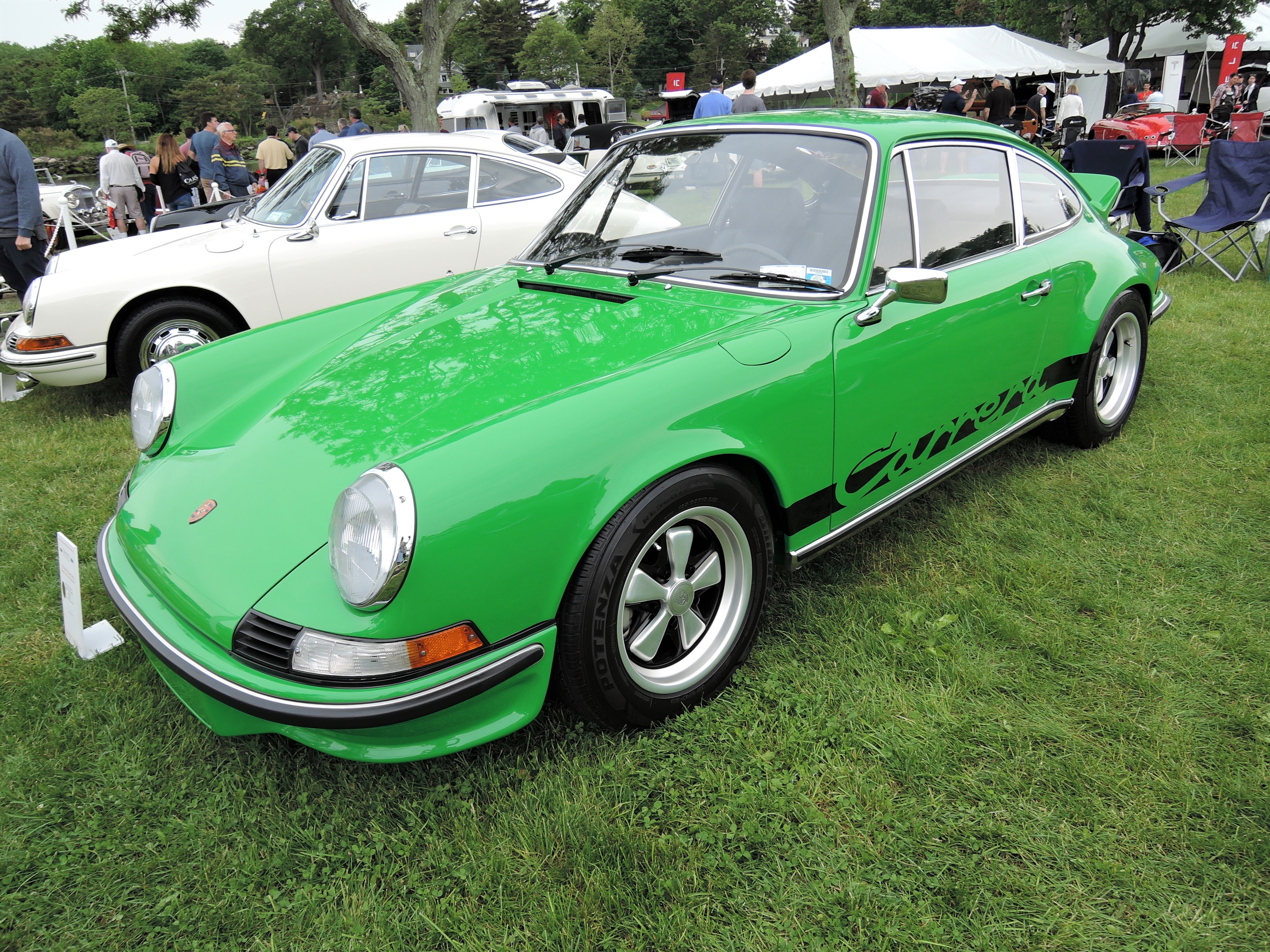 green 1973 Porsche 911 RS Carrera Touring Coupe - Greenwich Concours d'Elegance 2017