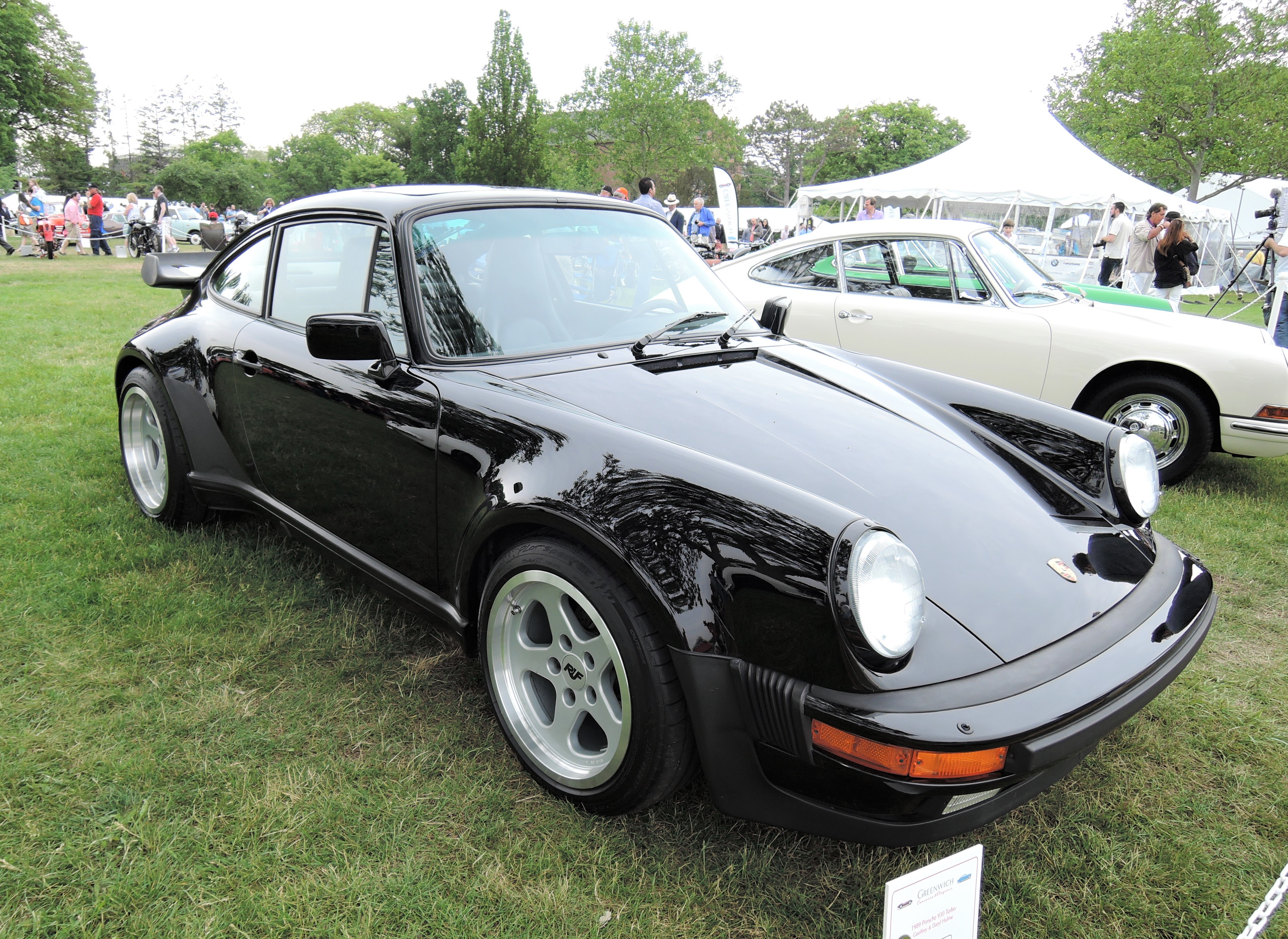 black 1989 Porsche 930 Turbo Coupe - Greenwich Concours d'Elegance 2017