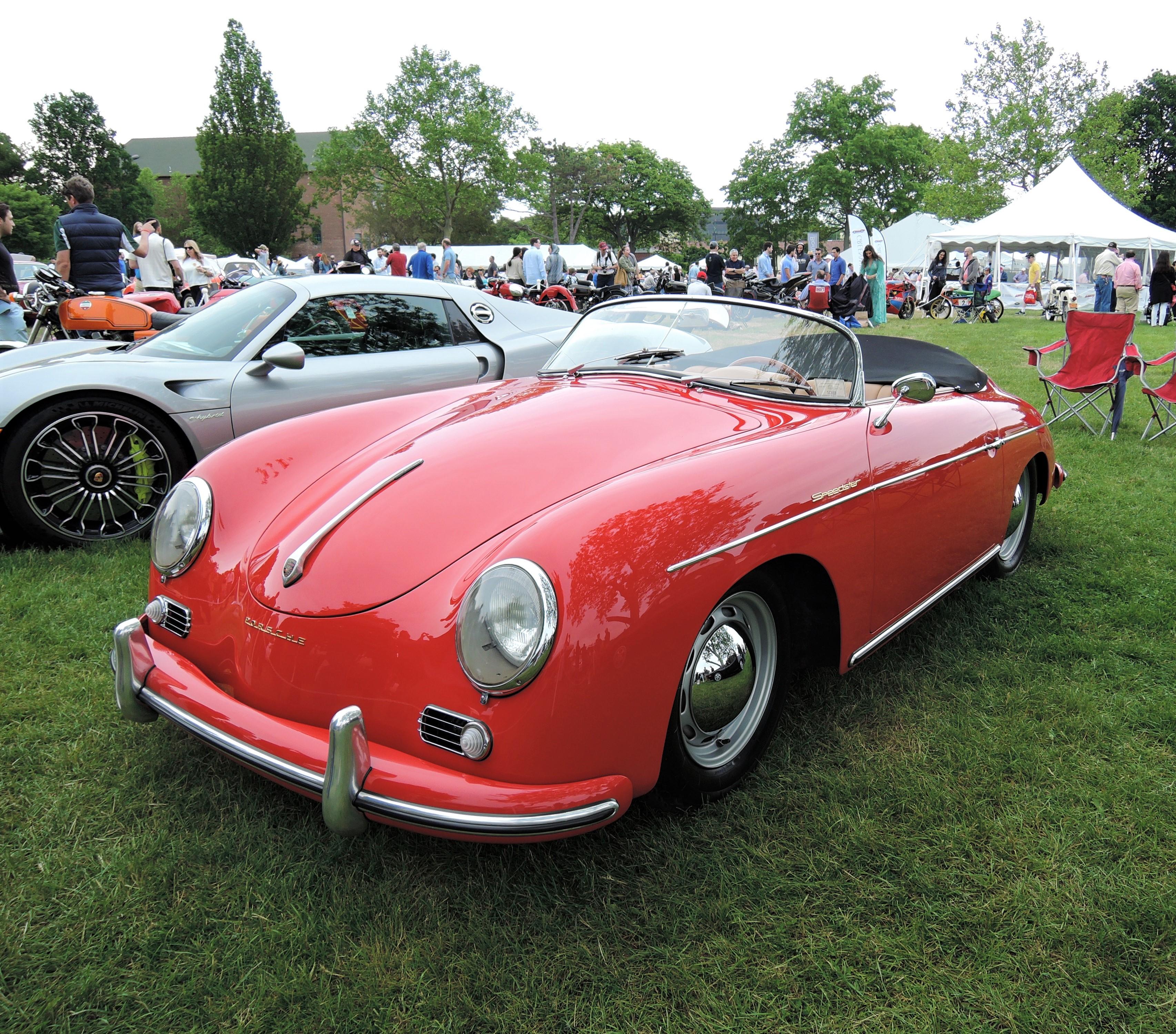 red 1957 Porsche 356A -Greenwich Concours d'Elegance 2017