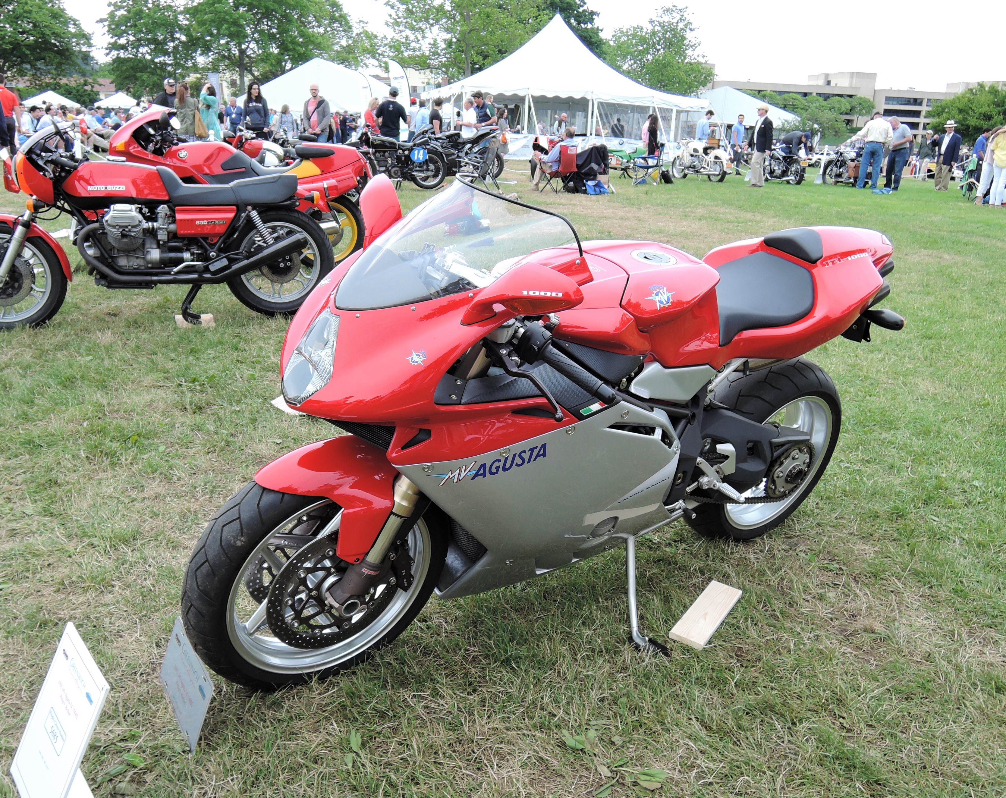 red 2005 MV Agusta F4 1000S - Greenwich Concours d'Elegance 2017