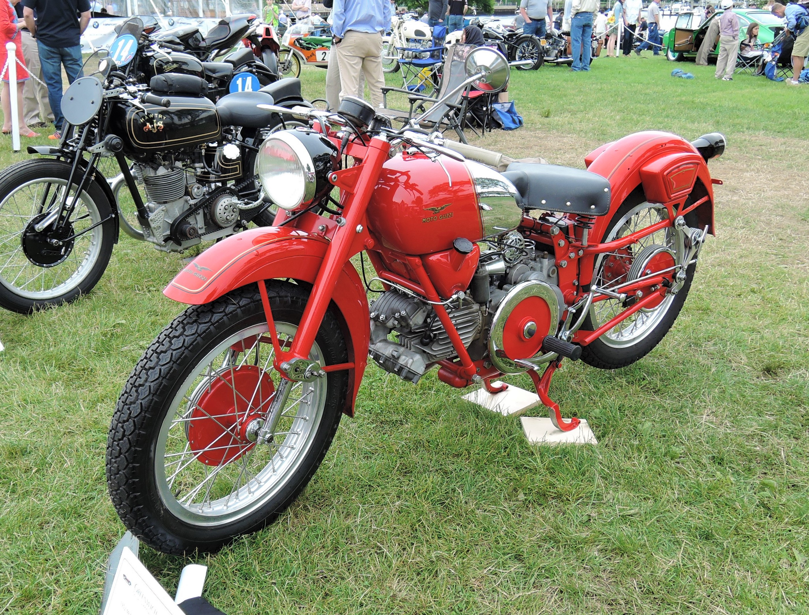 red 1952 Moto Guzzi Falcone Sport - Greenwich Concours d'Elegance 2017