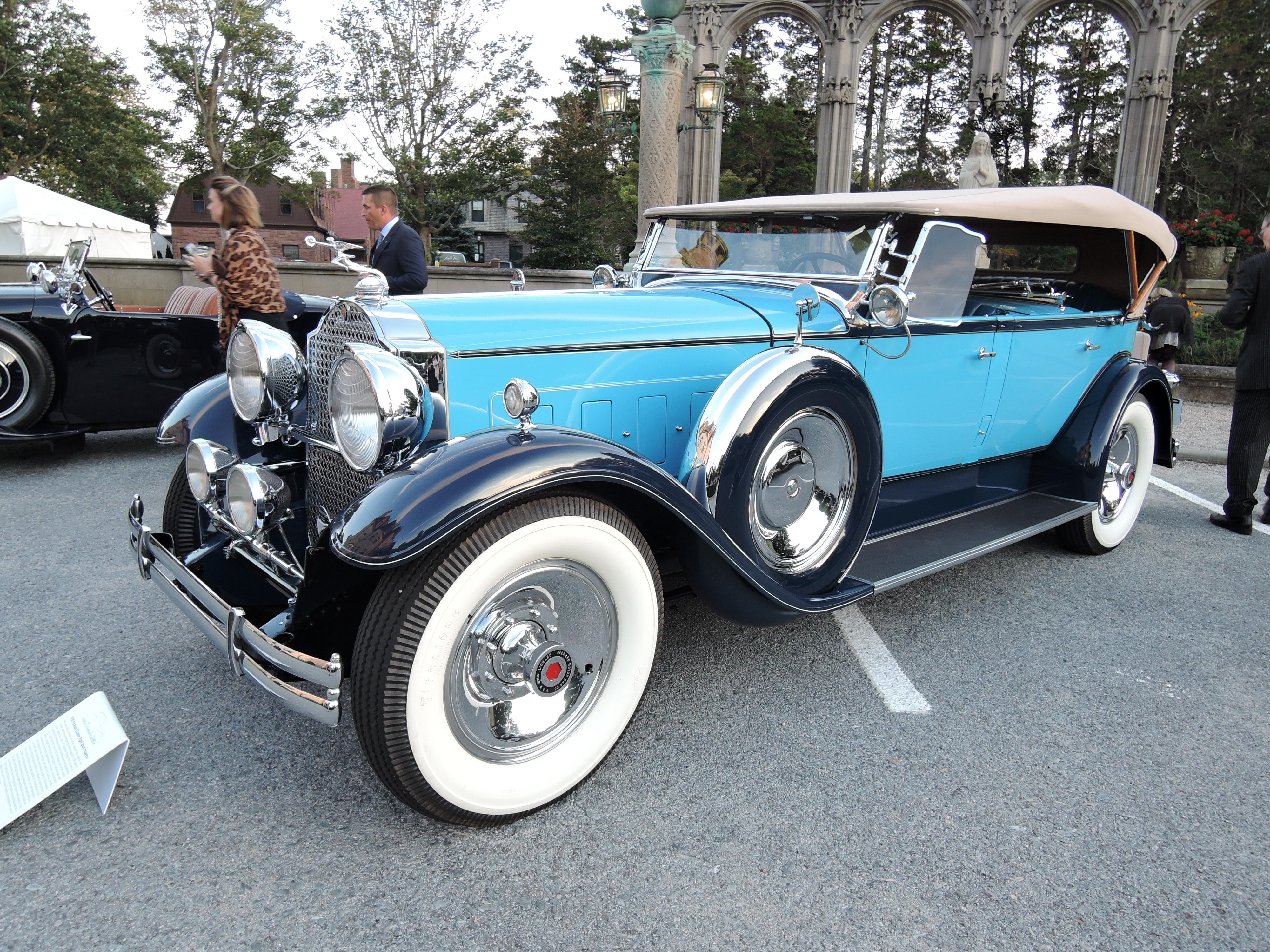 blue 1930 Packard Custom Eight Sport Phaeton - Audrain Auto Museum Gala 2017