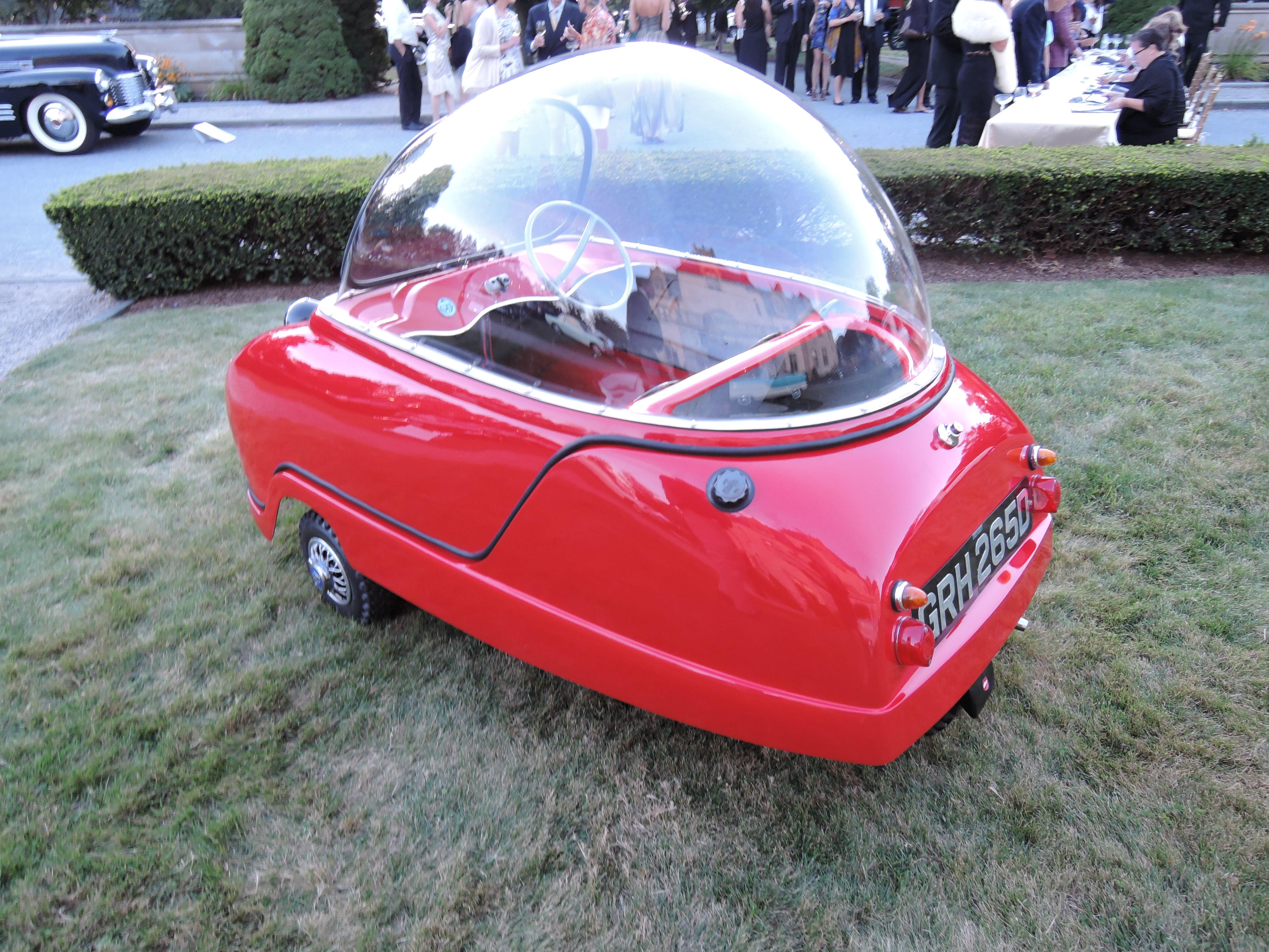 red 1965 Peel Trident - Audrain Auto Museum Gala 2017