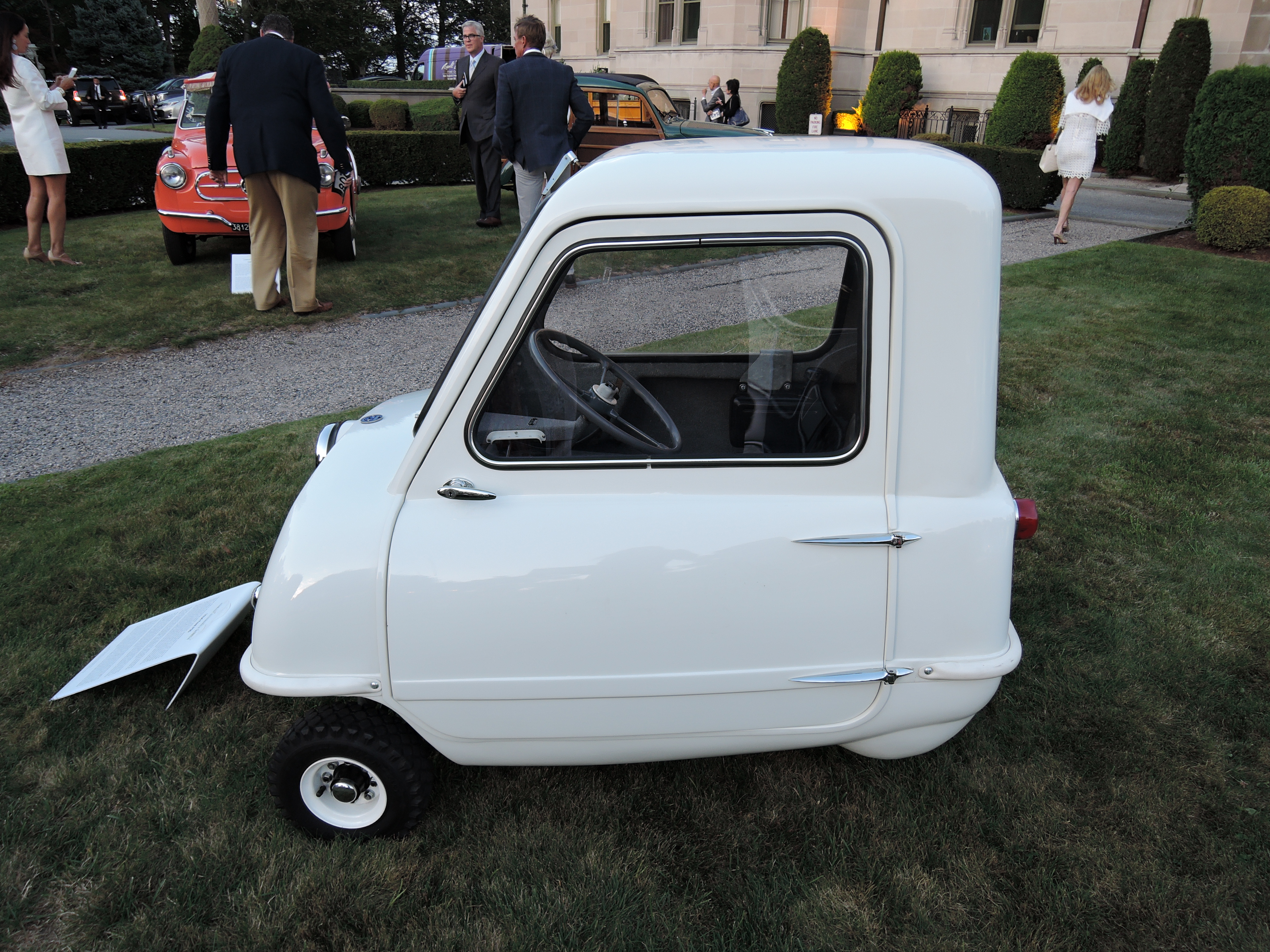 white 1964 Peel P50 - Audrain Auto Museum Gala 2017