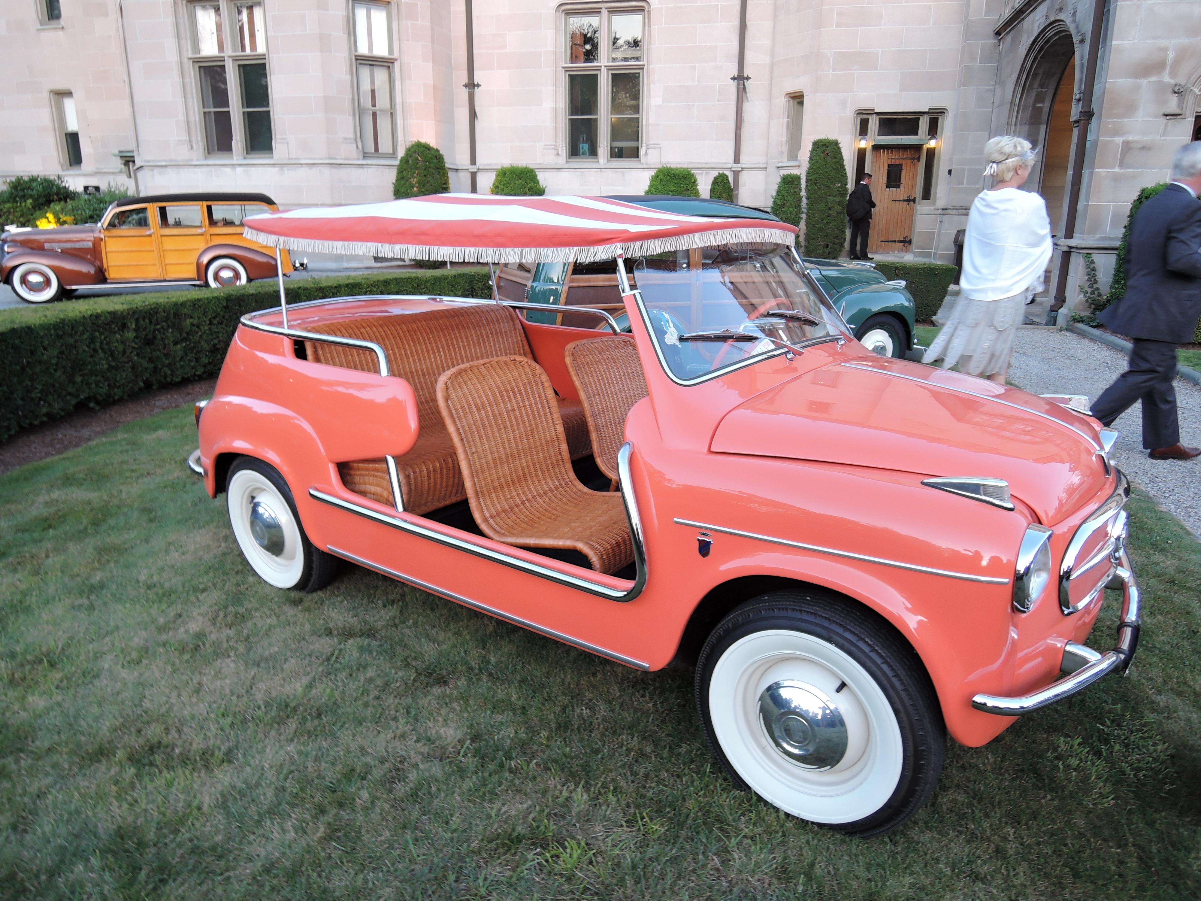 sherbert orange 1959 Fiat Jolly - Audrain Auto Museum Gala 2017
