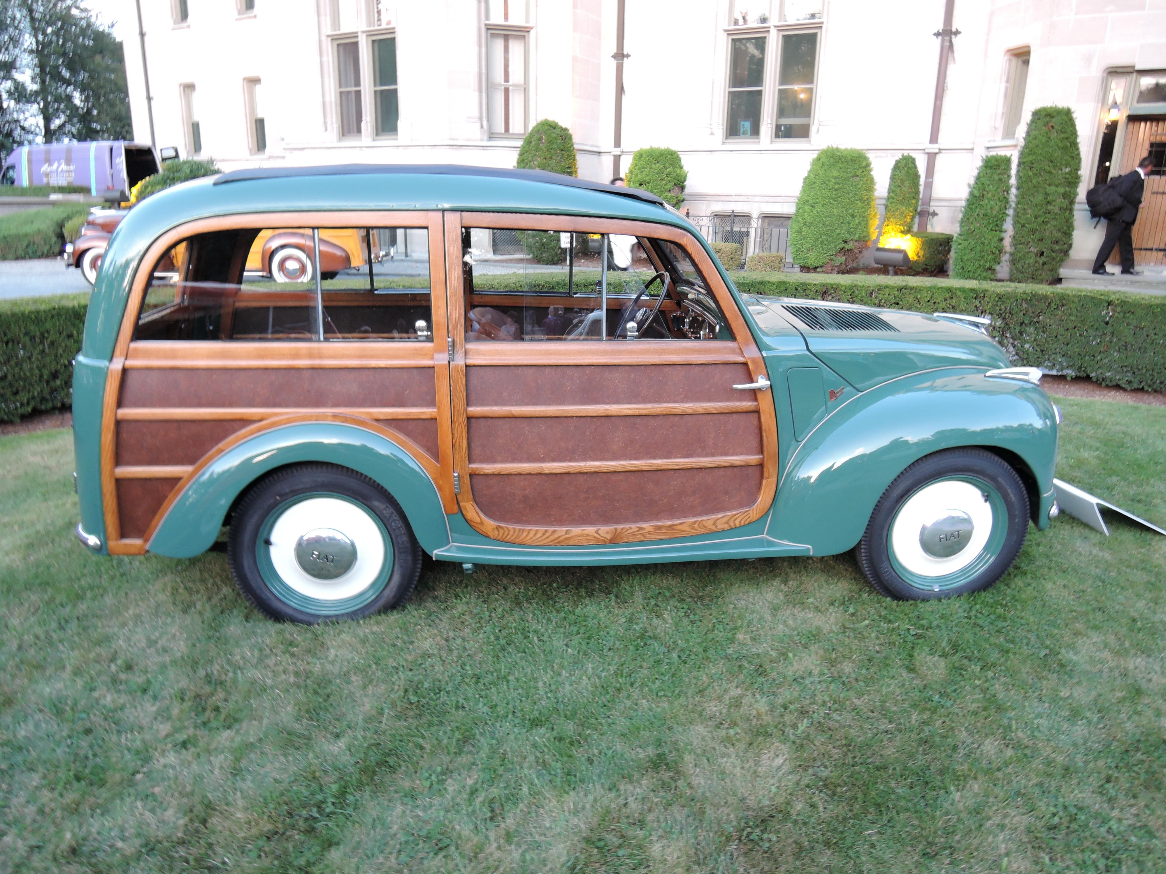 green/wood 1951 Fiat 500C Giardiniera - Audrain Auto Museum Gala 2017