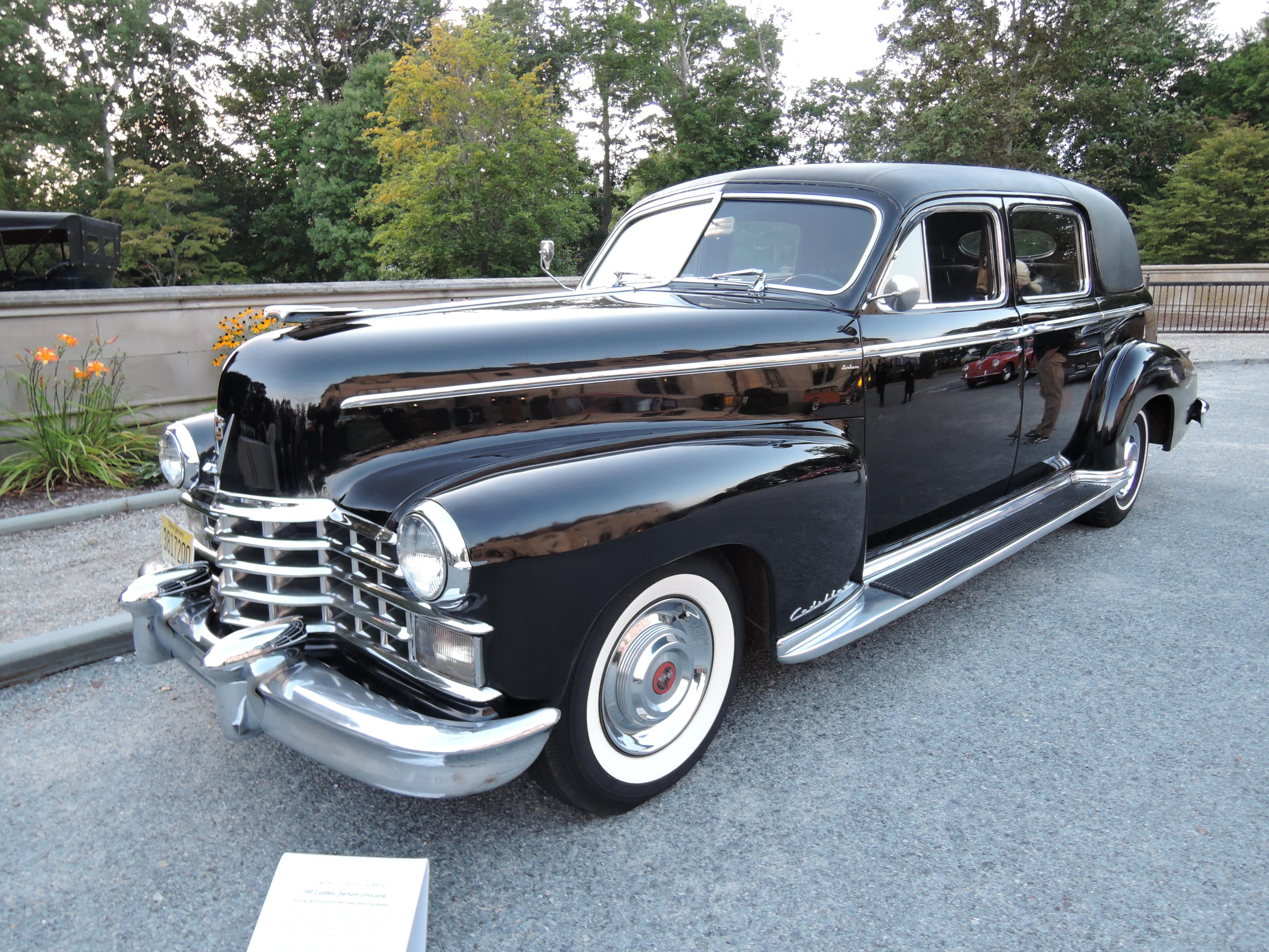 black 1949 Cadillac Derham Limousine - Audrain Auto Museum Gala 2017