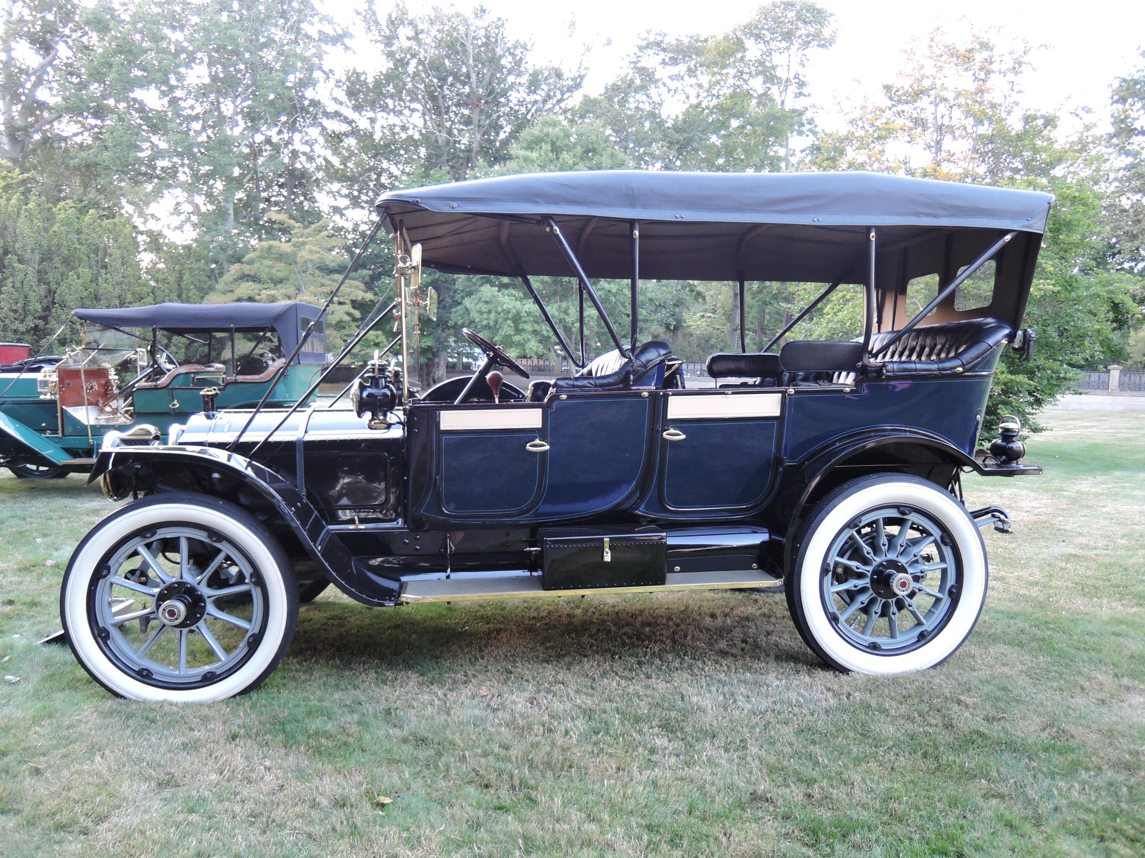 blue 1912 Packard Model 30 7-Passenger Touring - Audrain Auto Museum Gala 2017