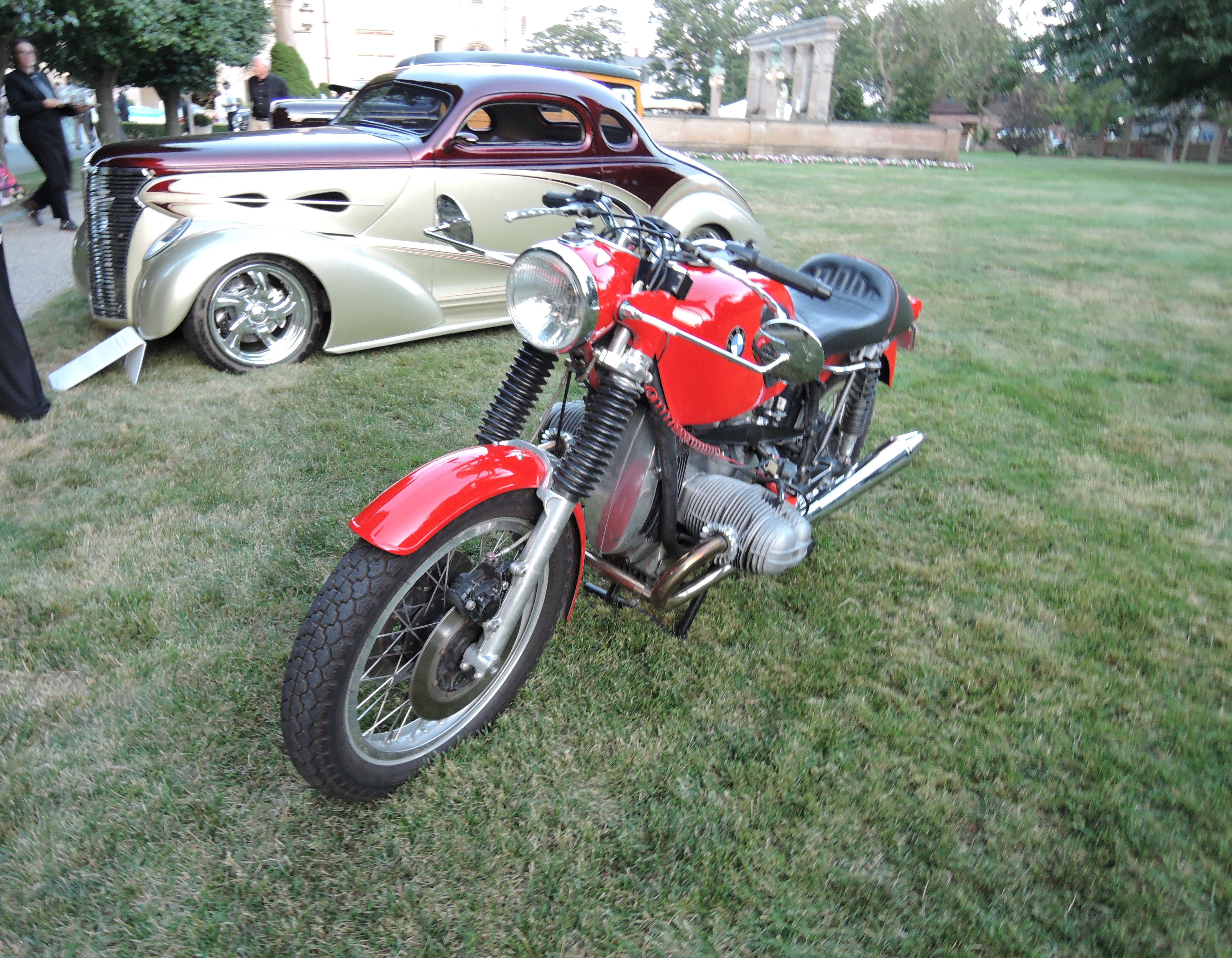 red BMW cafe racer - Audrain Auto Museum Gala 2017