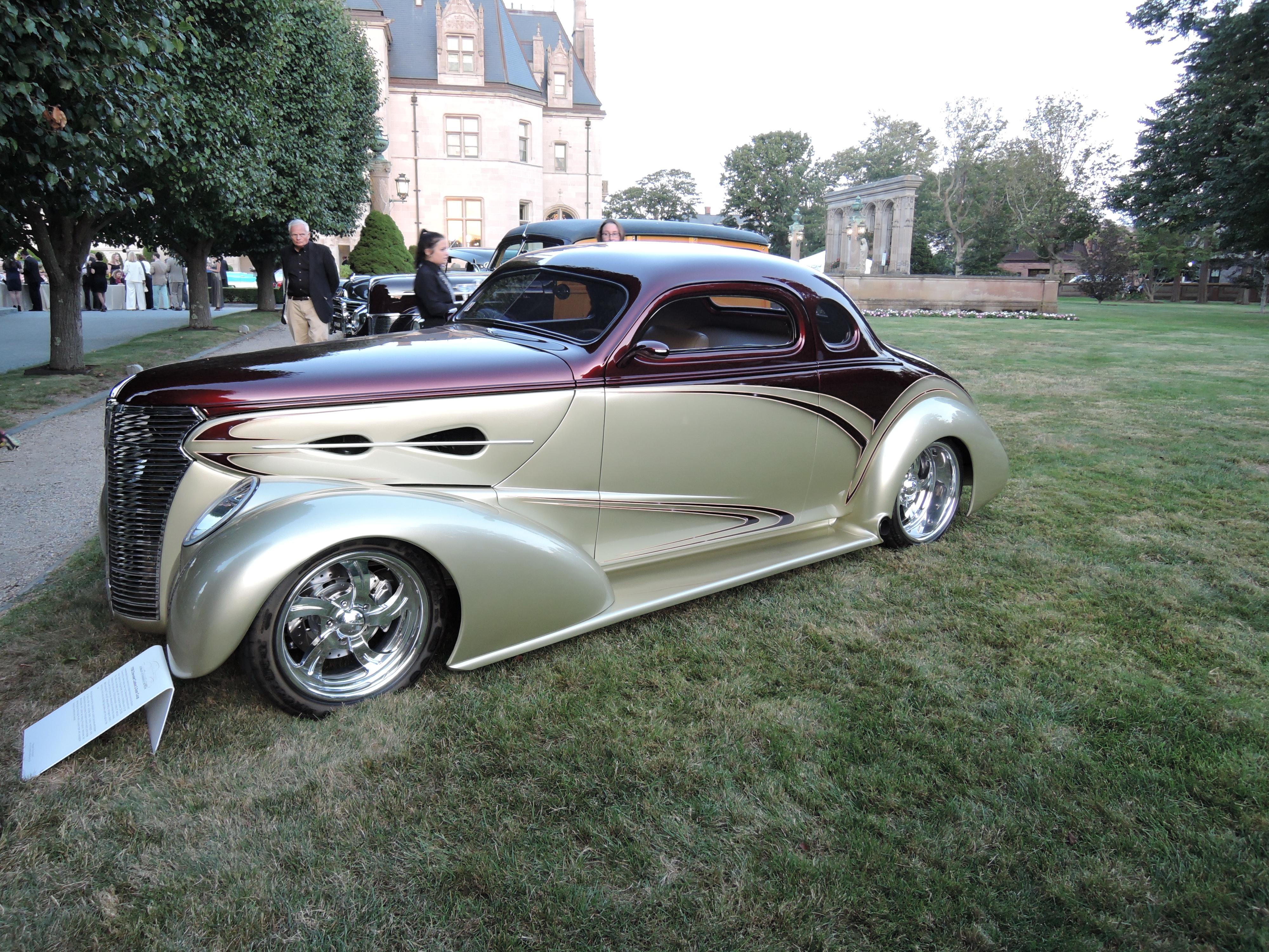 zenith gold/candy apple brandywine 1938 Chevrolet Custom 2-Door Coupe - Audrain Auto Museum Gala 2017
