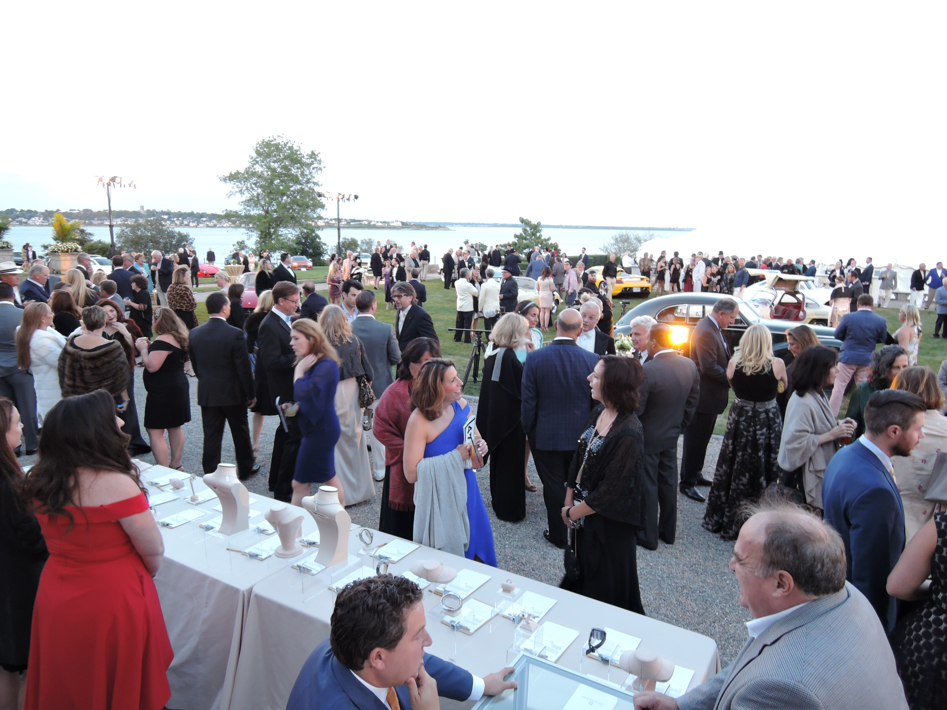 lawn at Rosecliff - Audrain Auto Museum Gala 2017
