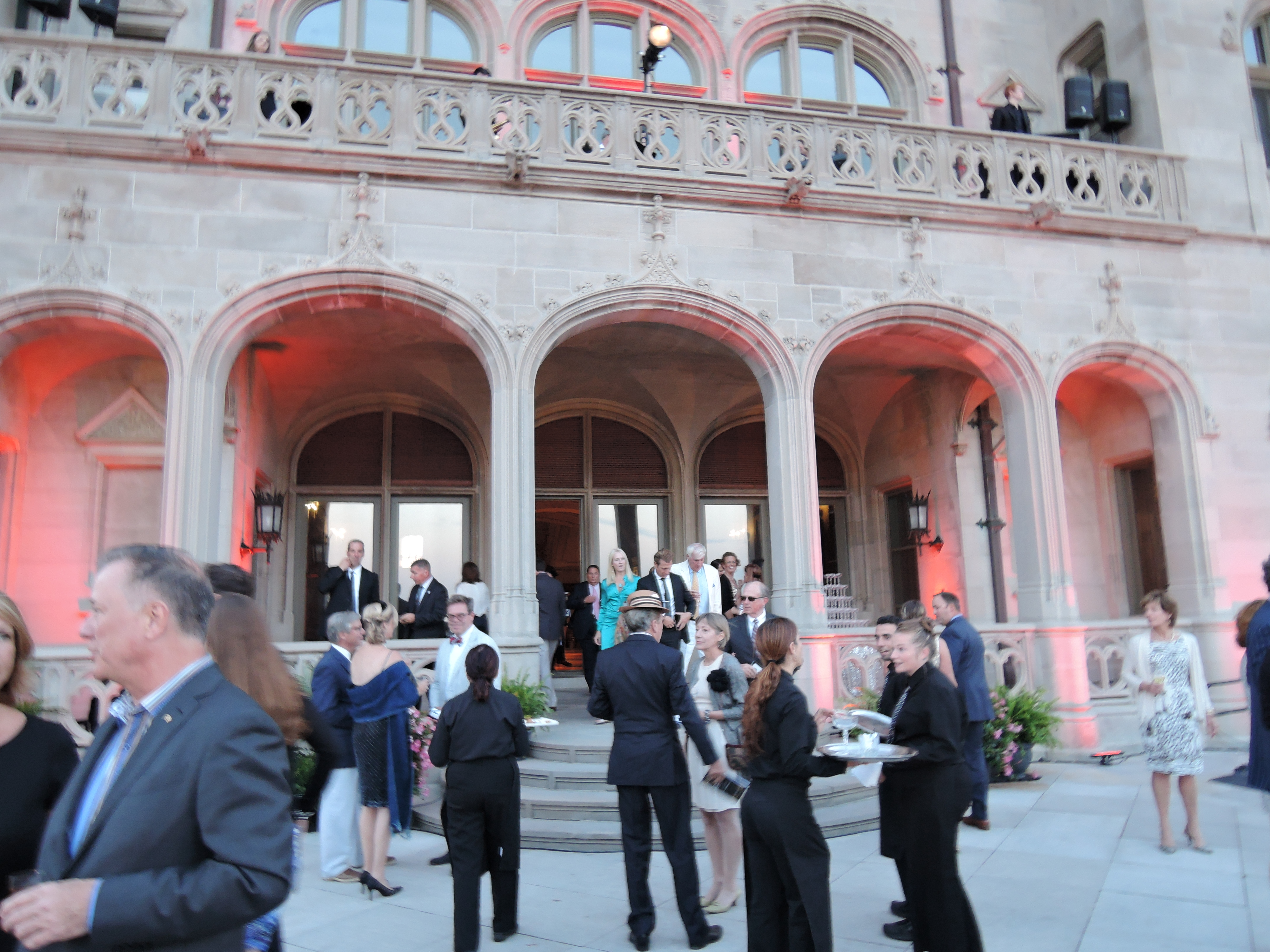 back of Rosecliff Mansion Newport RI - Audrain Auto Museum Gala 2017